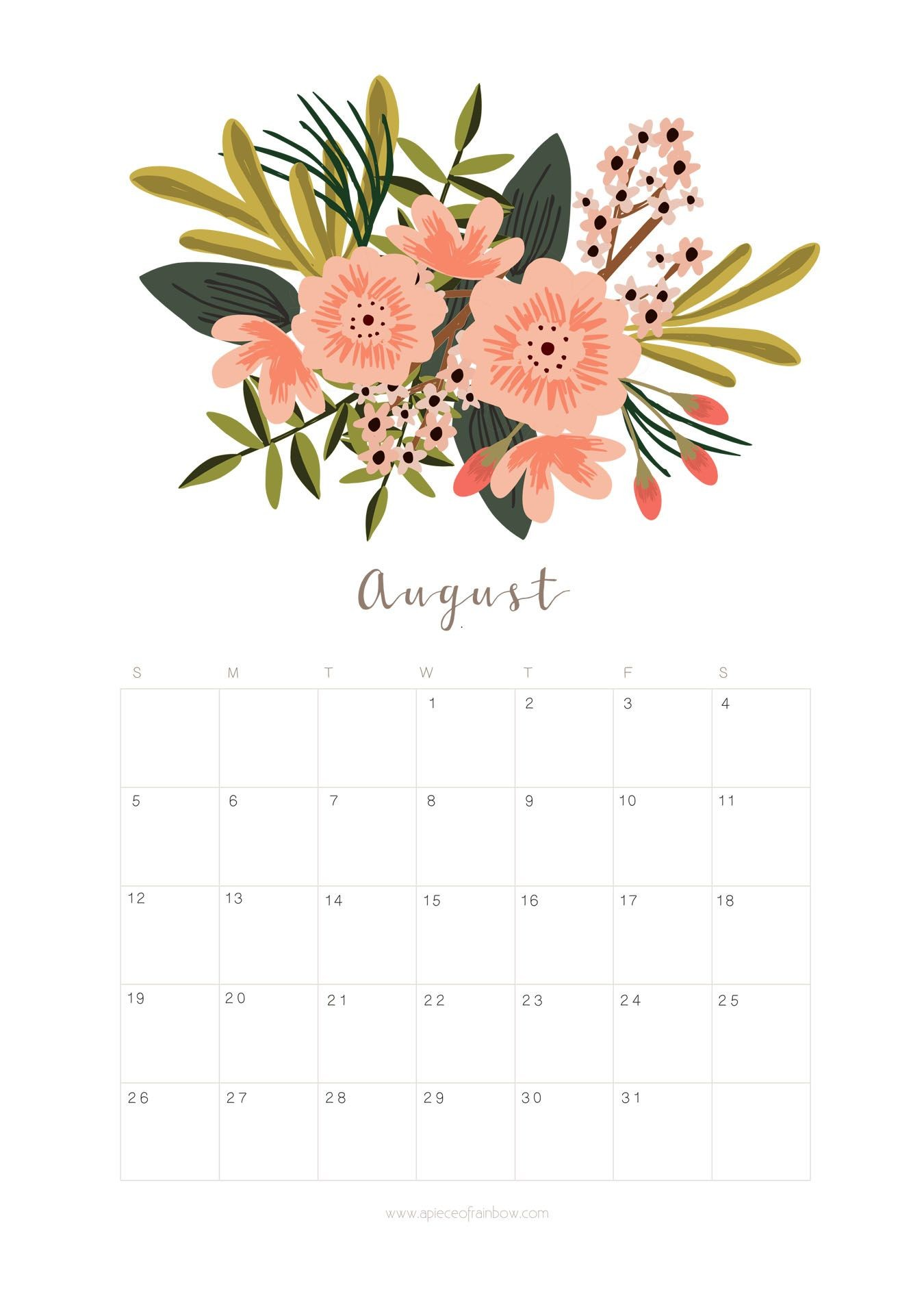 August Calender Monthly Calender Monthly Planner Printable 2018 Calendar Excel Calendar Pages