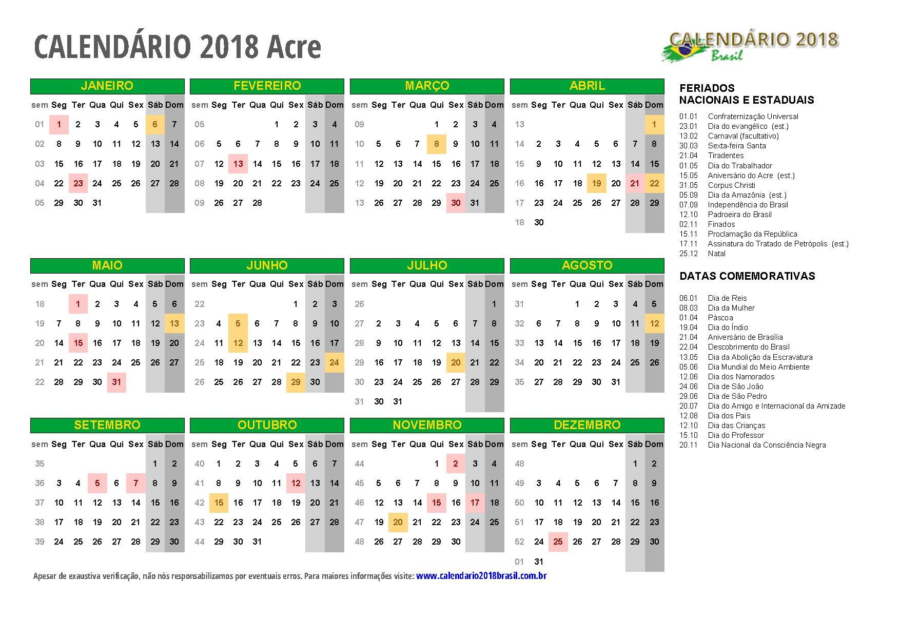 Calendario 2017 Para Escrever E Imprimir Más Actual Calendrio 2018 Para Imprimir Feriados
