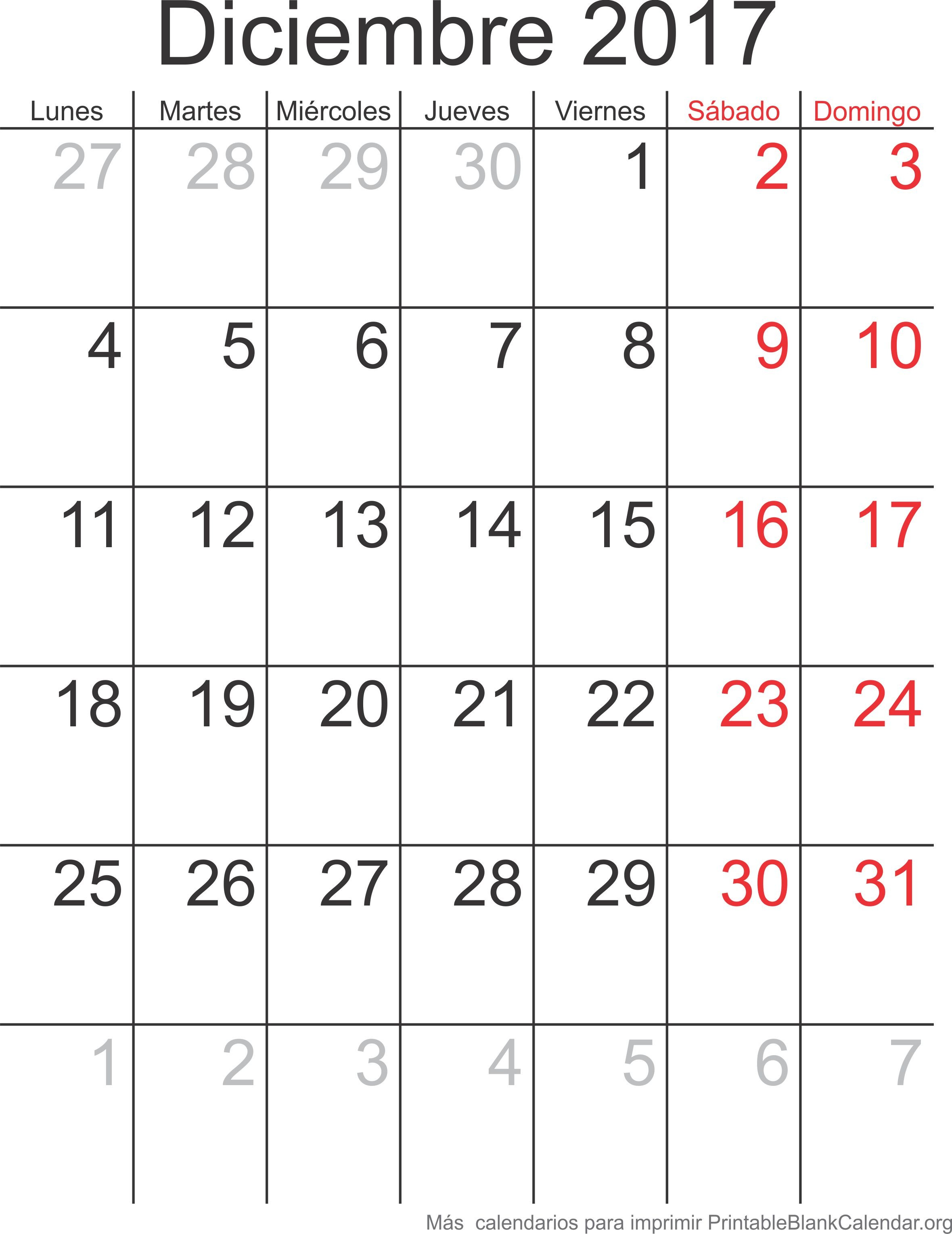 Calendario 2017 Para Imprimir De Lunes A Domingo Más Caliente Diciembre 2017 Calendario Para Imprimir Calendarios Para Imprimir