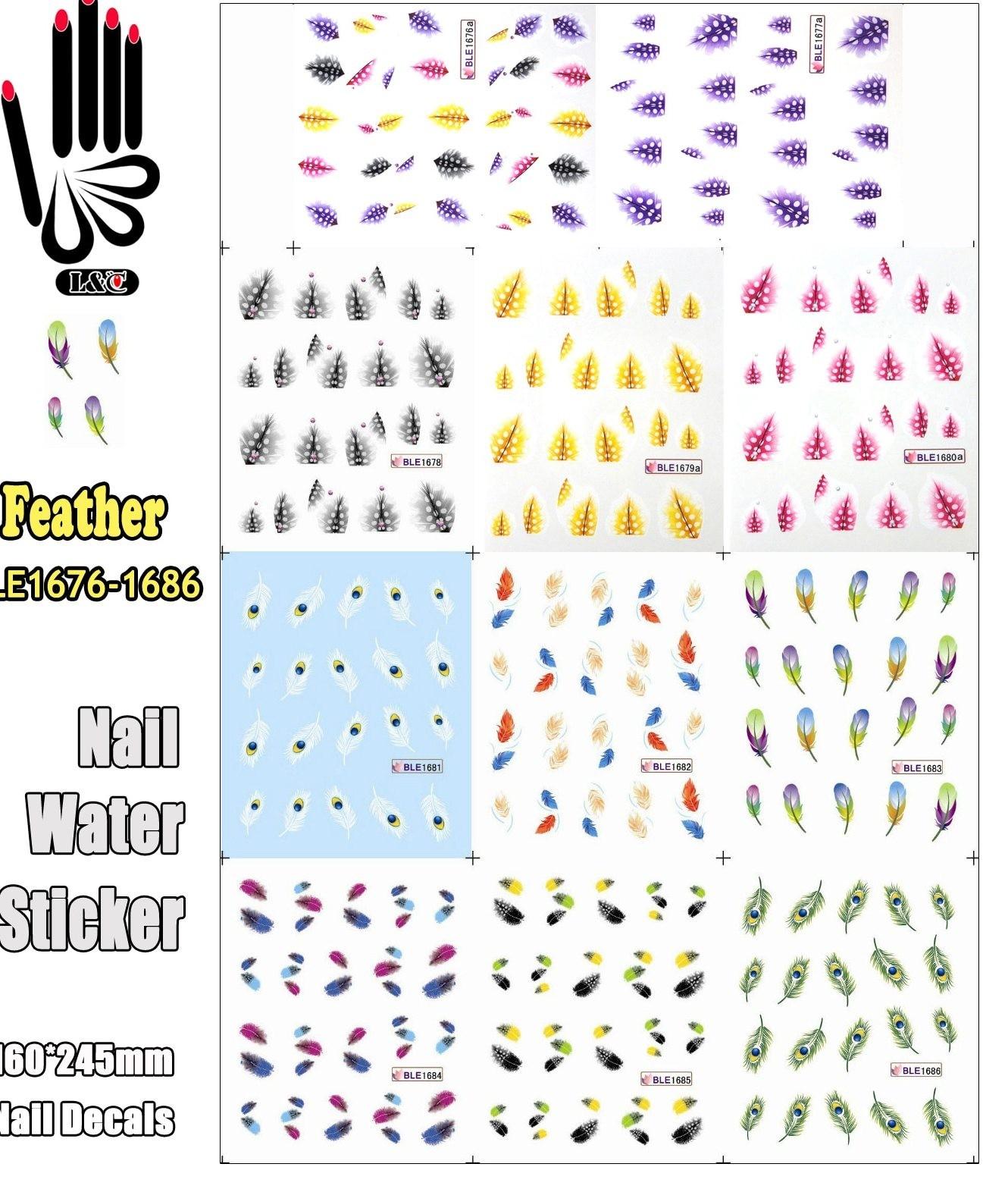 Calendario 2017 Para Imprimir Rj Más Recientes ツ ¯11 Sábanas Lot Manicura Ble1676a 1686 Colorido Plumas Manicura