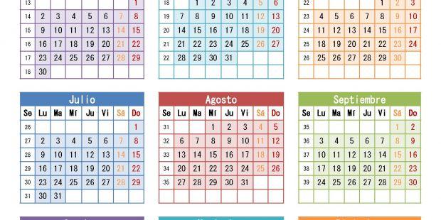 Calendario Para Escribir.Calendario 2019 Argentina Para Imprimir Teriz Yasamayolver Com