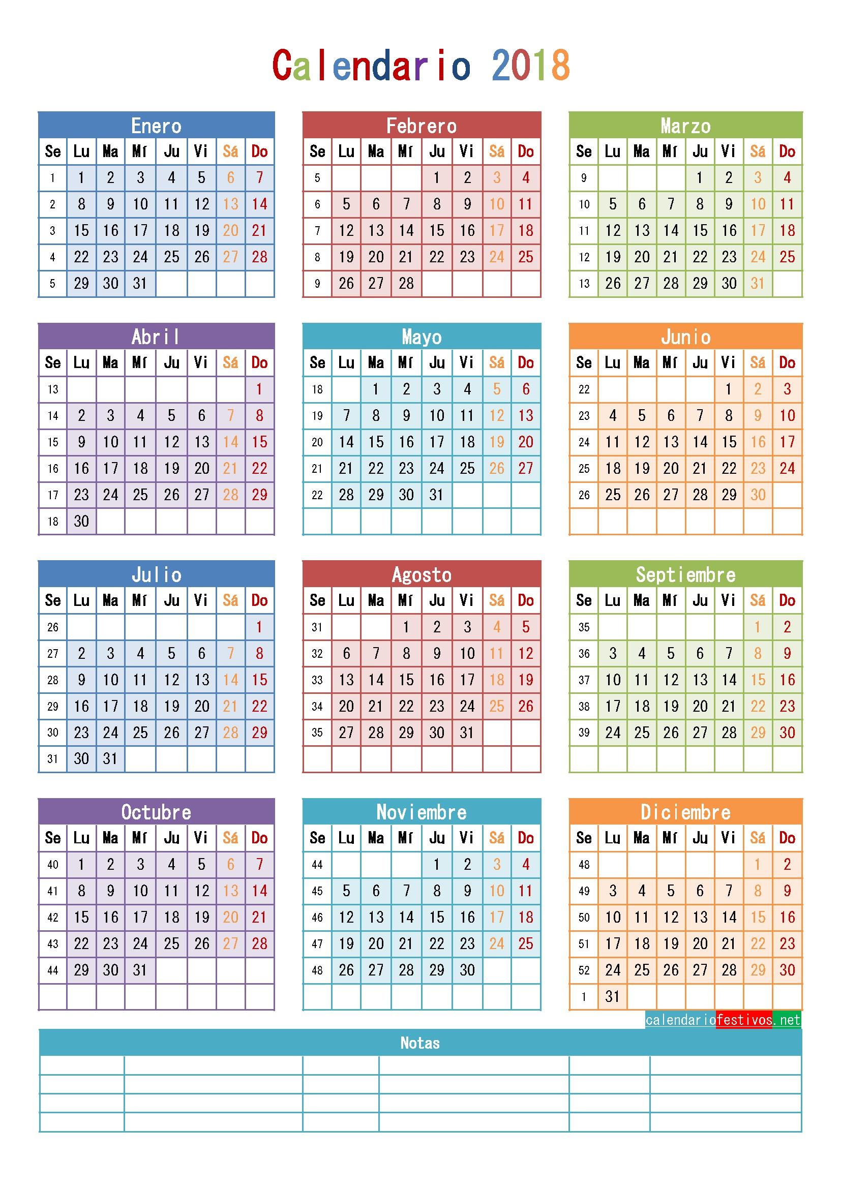 Calendario 2019 Argentina Para Imprimir Y Escribir Más Recientes Calendario 2018 Para Imprimir Anual Mensual Escolar Infantil Y