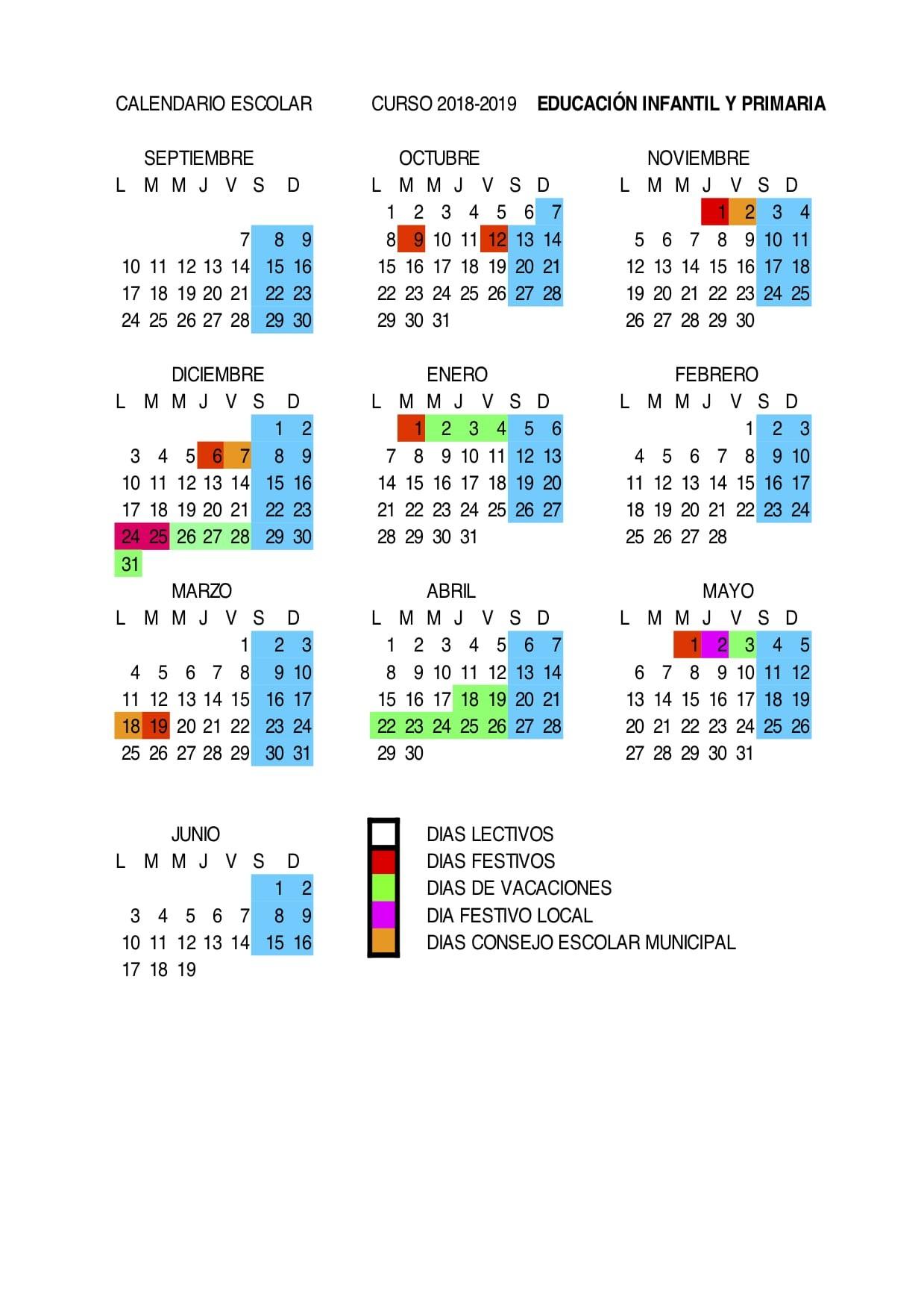 Calendario 2019 Barcelona Festivos Más Reciente Calendario Escolar Curso 2018 19