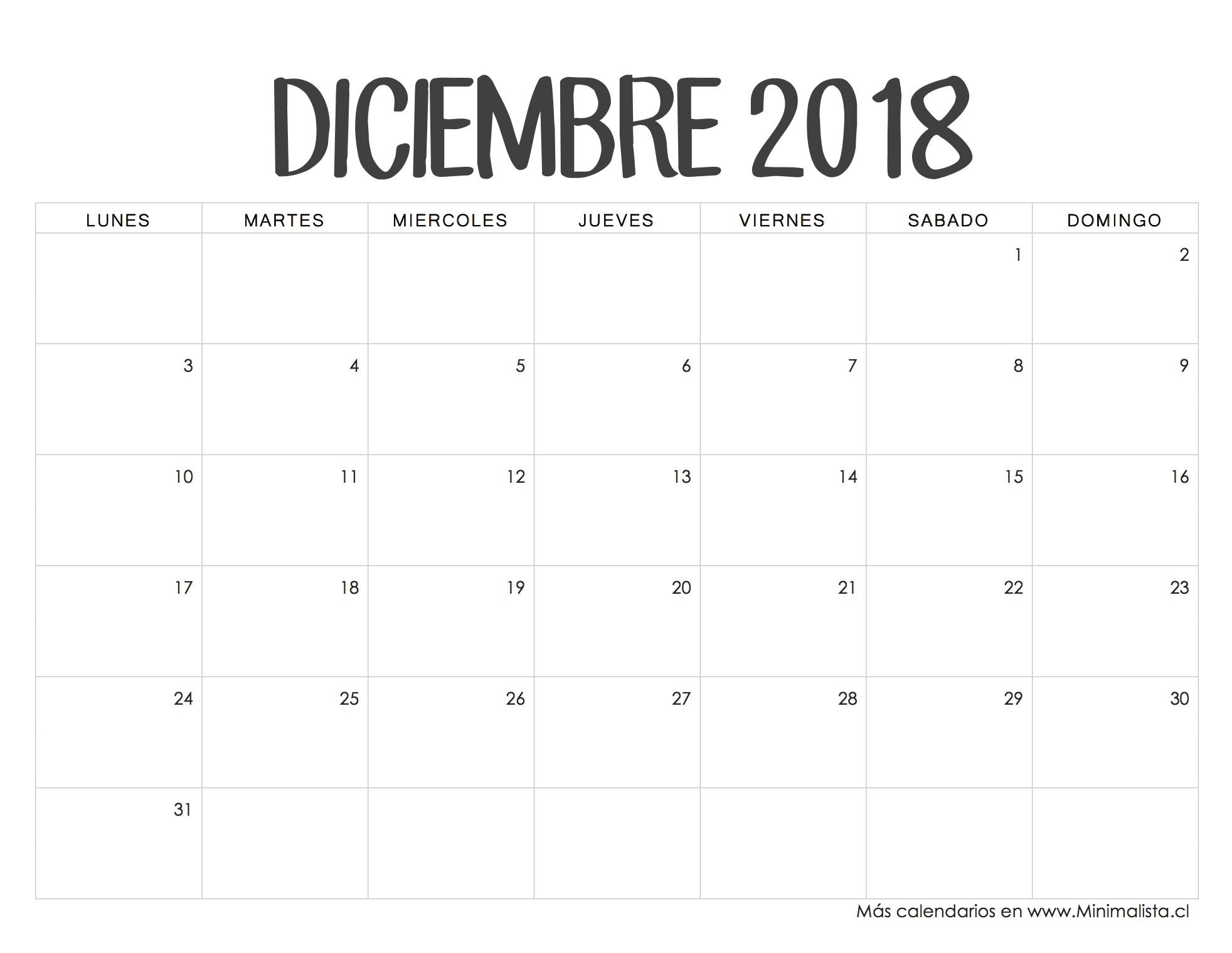 Calendario 2019 Chile Con Feriados Para Imprimir Gratis Más Recientes Calendario Diciembre 2018 Bullet Joanar Pinterest Of Calendario 2019 Chile Con Feriados Para Imprimir Gratis Más Recientemente Liberado Calendario Chile A±o 2019
