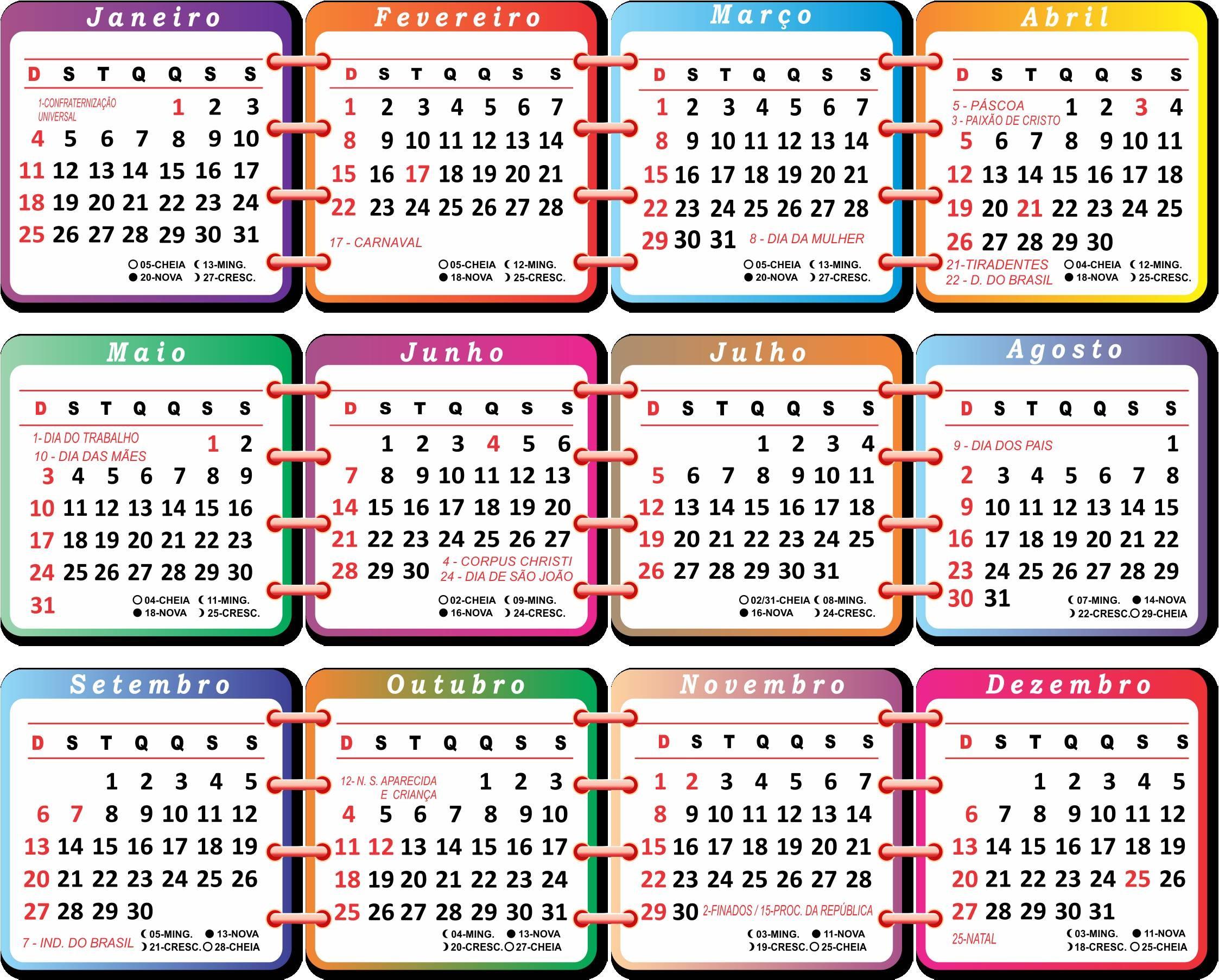 Calendrio para imprimir outubro 2017 Feriados pblicos no Brasil