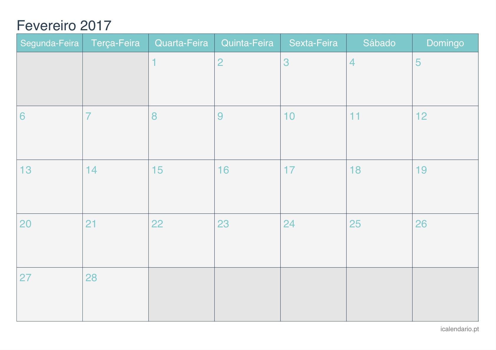 Calendário 2019 Com Feriados Nacionais Portugueses Para Imprimir Más Recientes Tati Calendario Fevereiro 2018 Calendrio Fevereiro 2018 54ds