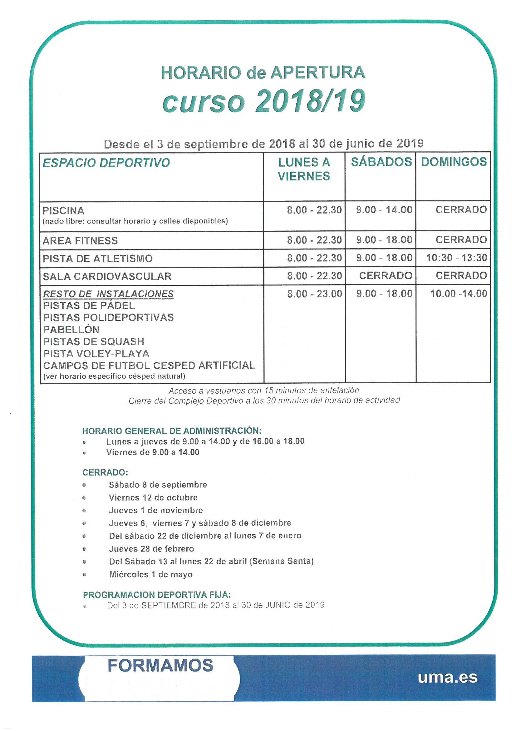 Calendario 2019 Con Festivos En andalucia Más Actual Deportes Deportes Universidad De Málaga