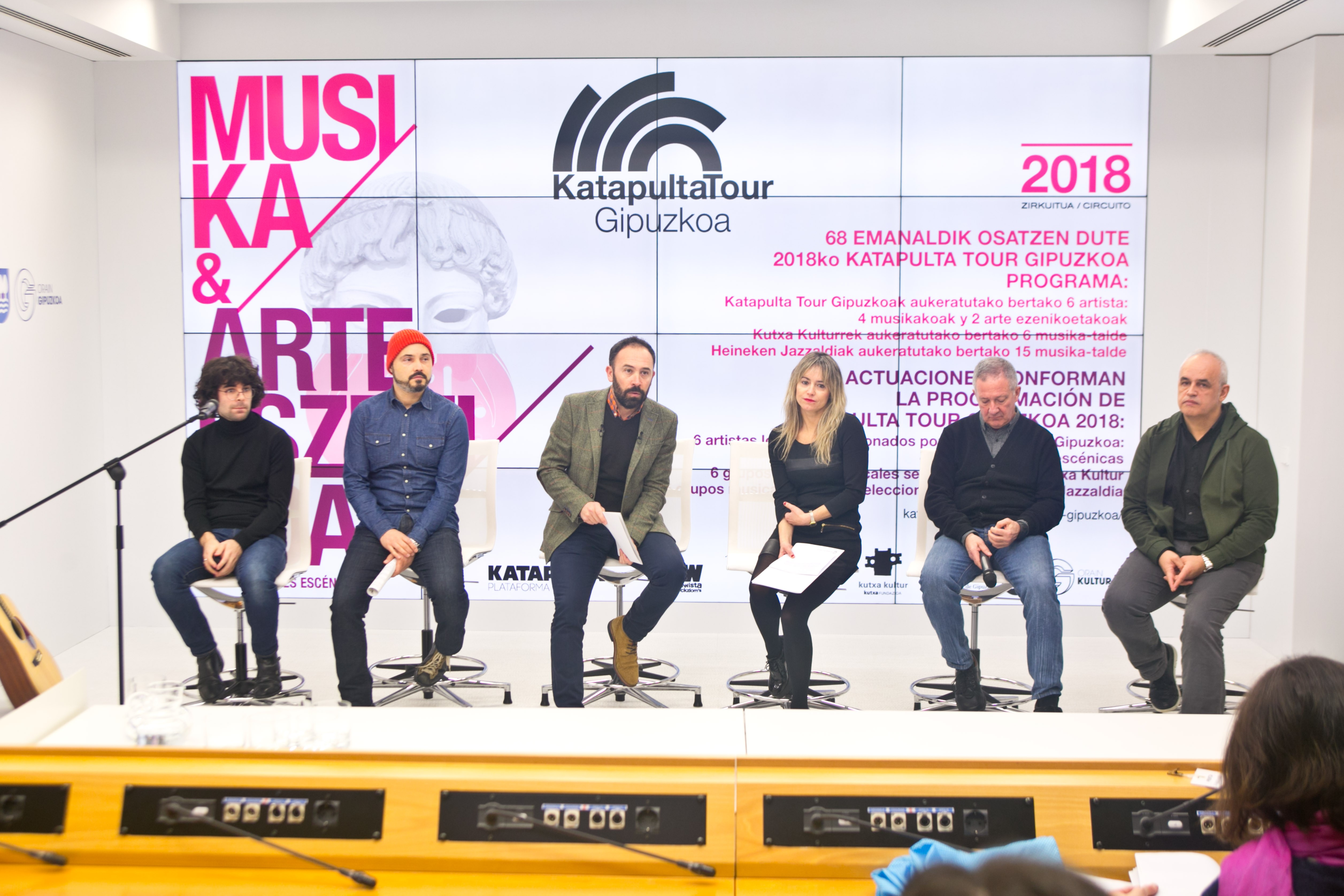 Katapulta Tour 2018 llevará los trabajos de 30 artistas a 10 localidades de Gipuzkoa