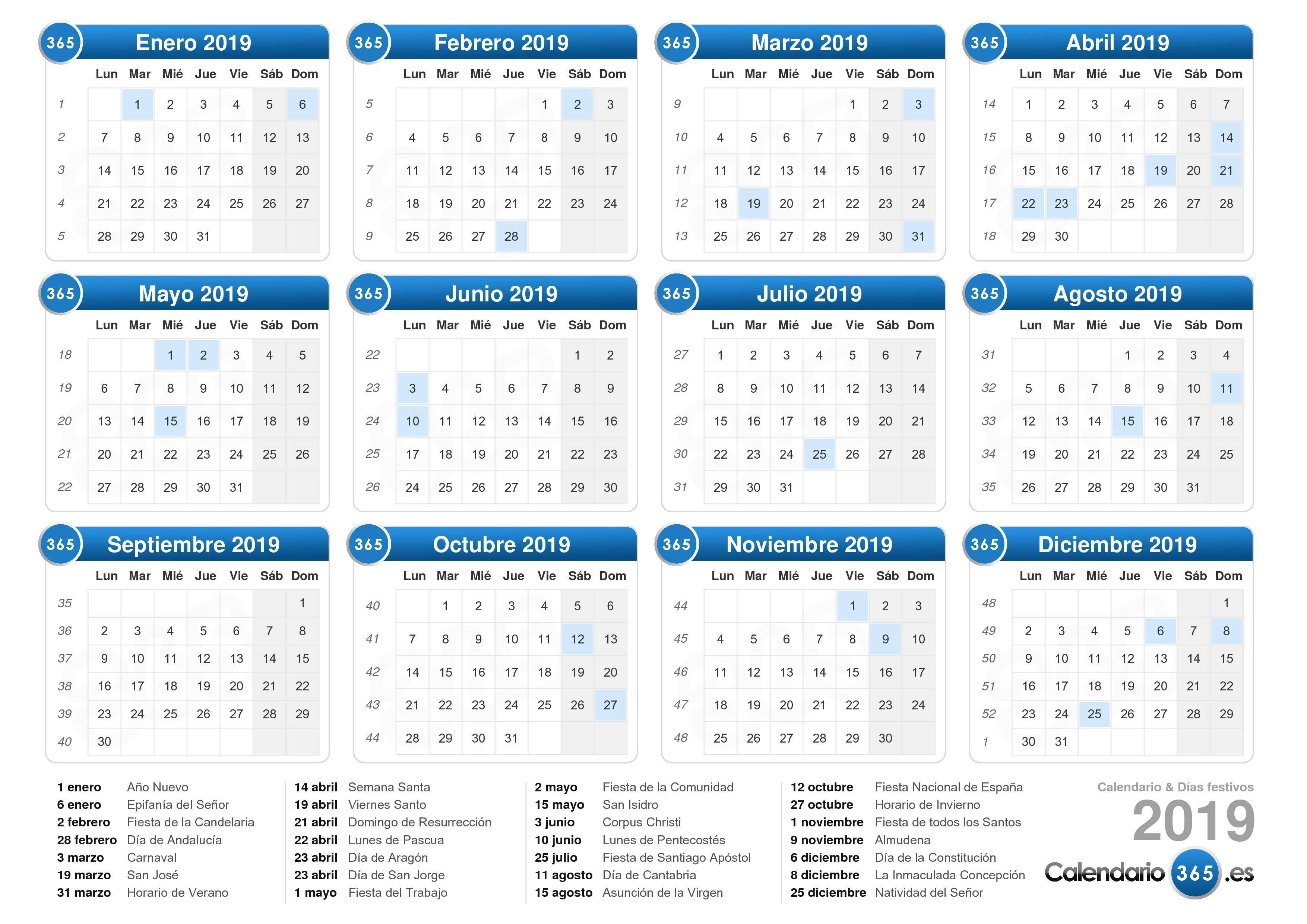 Calendario 2019 Con Festivos Nacionales Más Recientes Calendario 2019 Of Calendario 2019 Con Festivos Nacionales Más Arriba-a-fecha Calendario Escolar 2018 2019 En Barcelona afterscool
