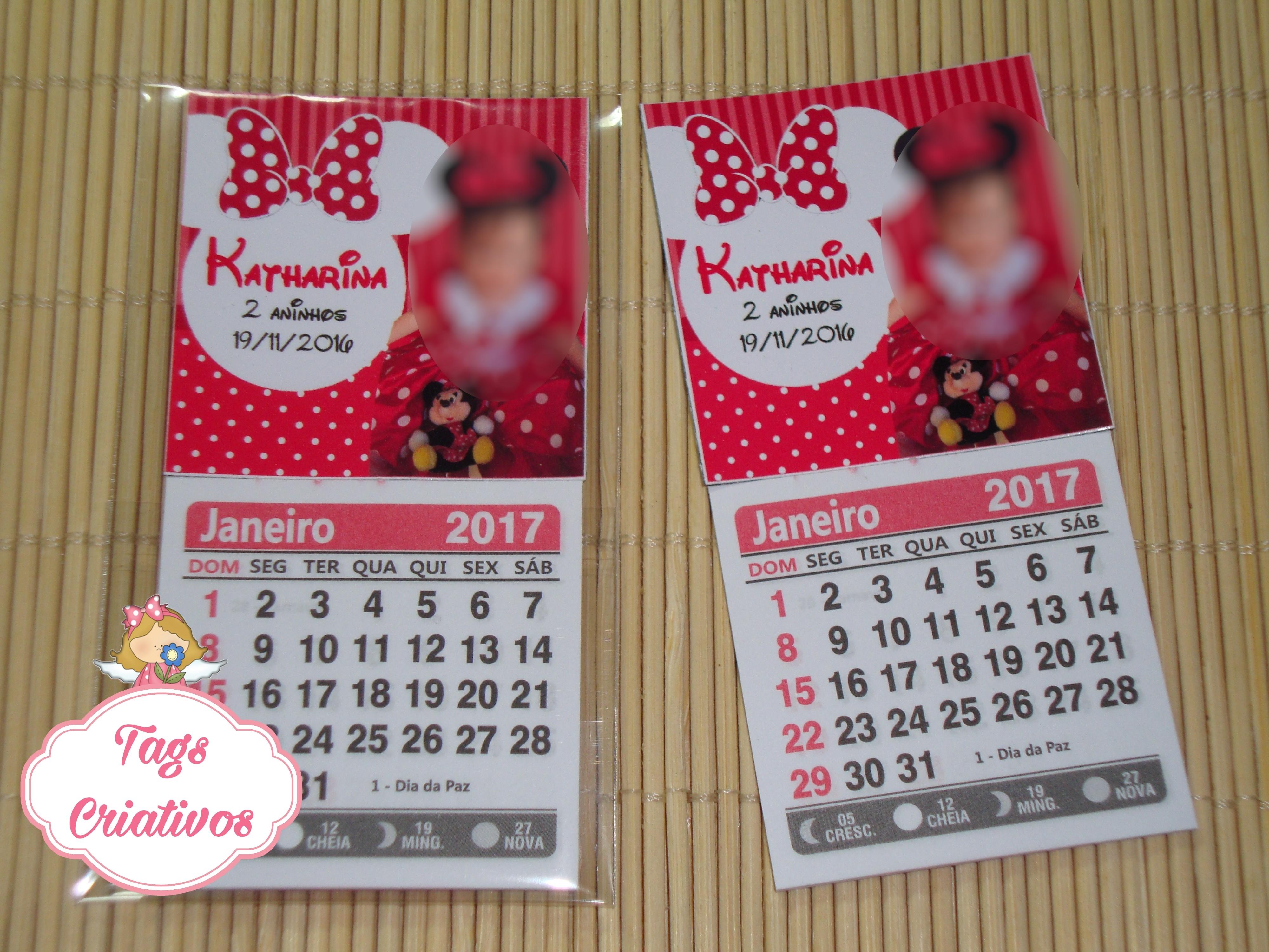 calendario 2018 c ima minnie calendario
