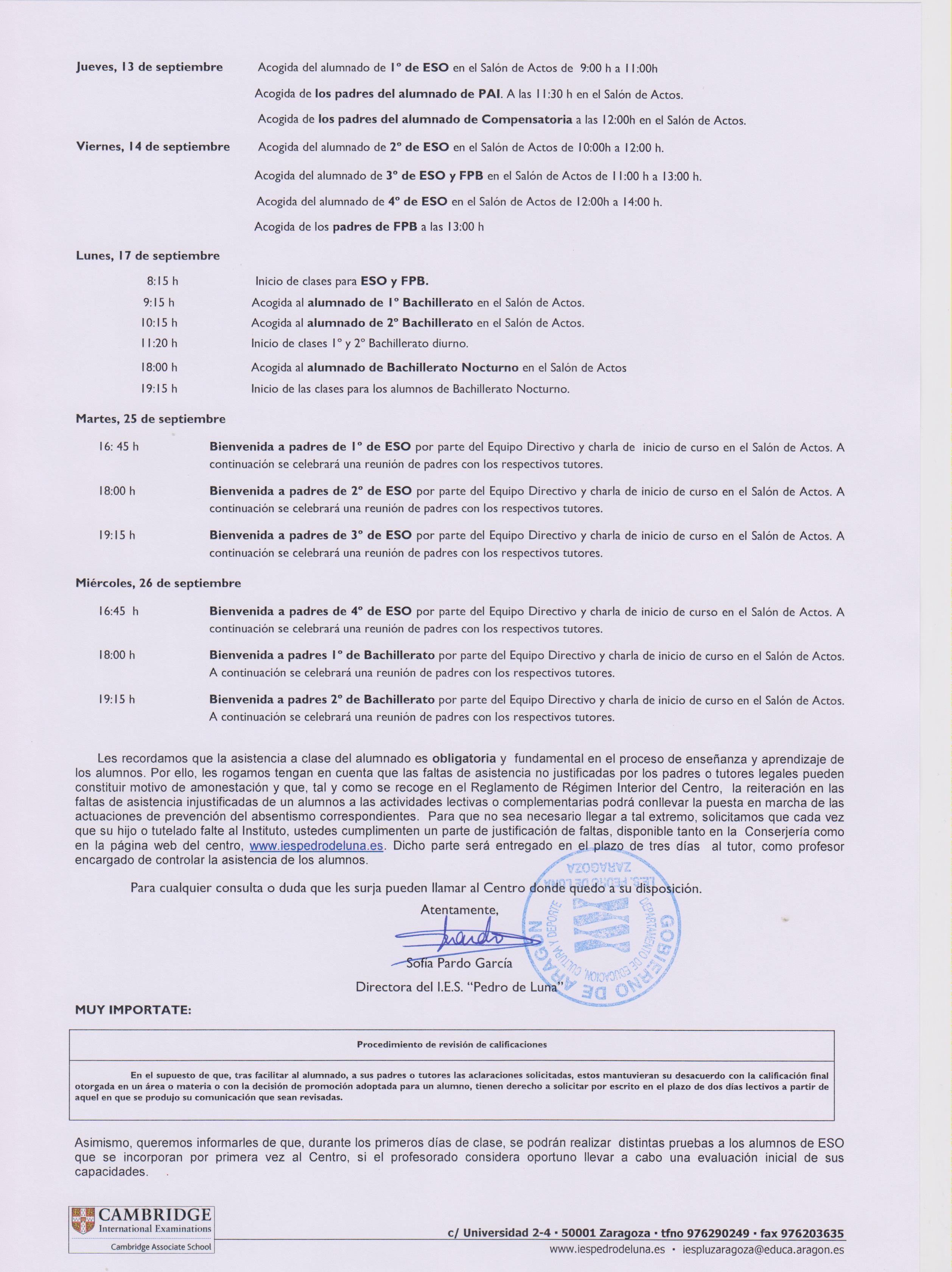 Calendario 2019 Escolar Aragon Más Recientes I E S Pedro De Luna Zona De Padres Y Madres Of Calendario 2019 Escolar Aragon Más Reciente Ies Severo Ochoa