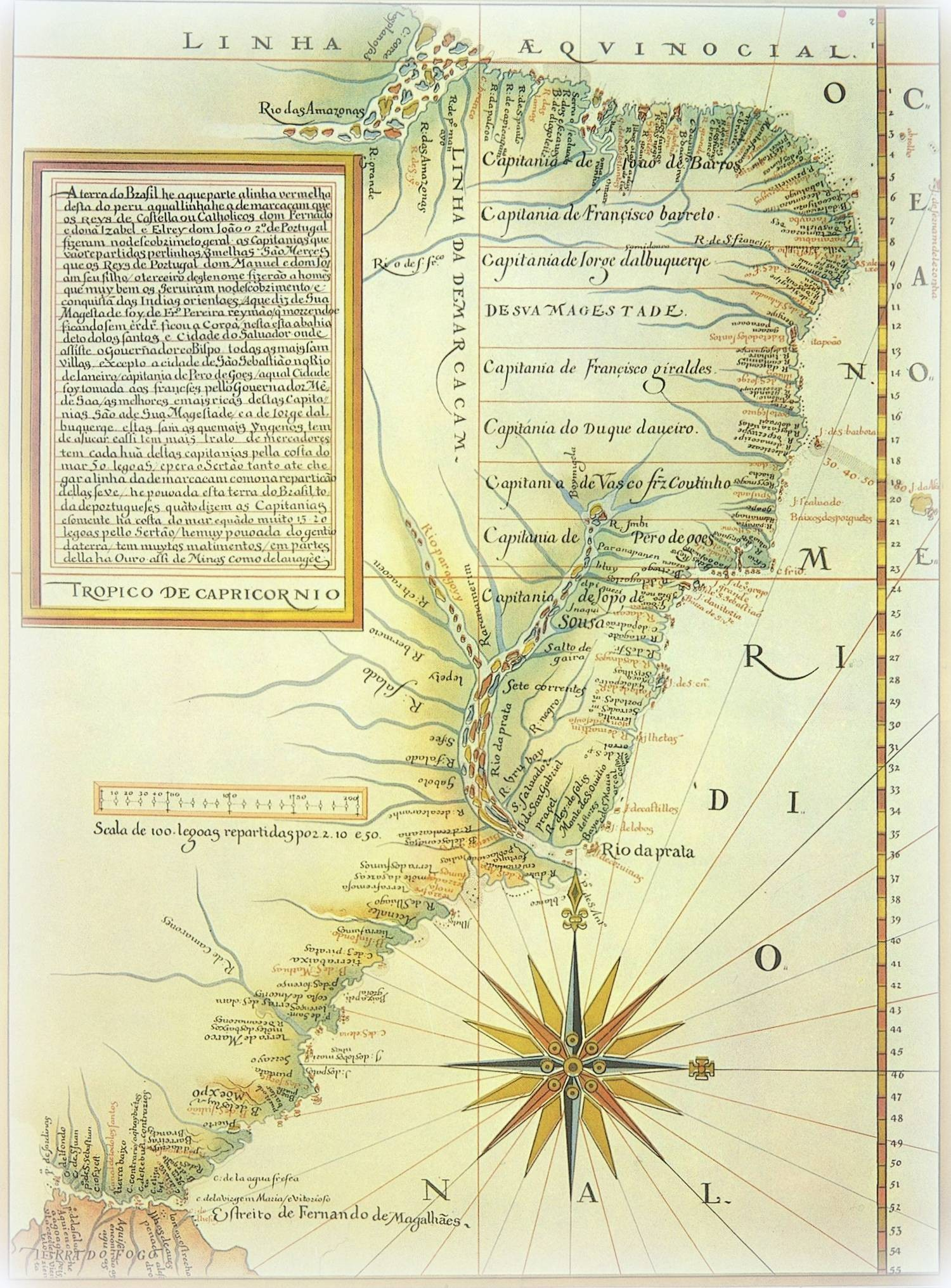 Lus Teixeira 1574 Divisi³n del Brasil en capitanas hereditarias La lnea de Tordesillas