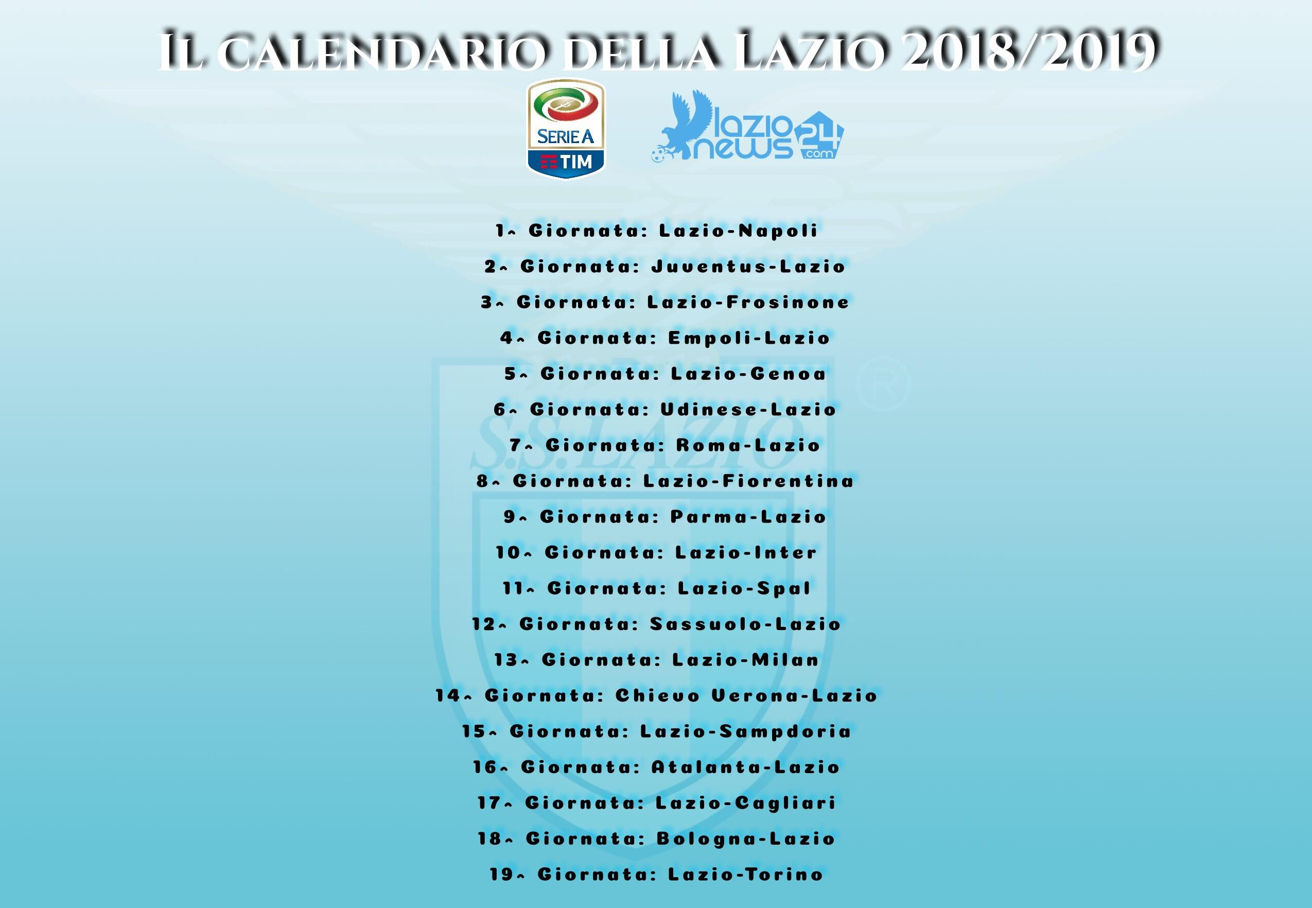 Calendario 2019 Inter Más Recientemente Liberado sorteggio Calendario Serie A 2018 2019 Lazio Napoli All Esordio Of Calendario 2019 Inter Más Recientemente Liberado sorteggio Calendario Serie A 2018 2019 Lazio Napoli All Esordio