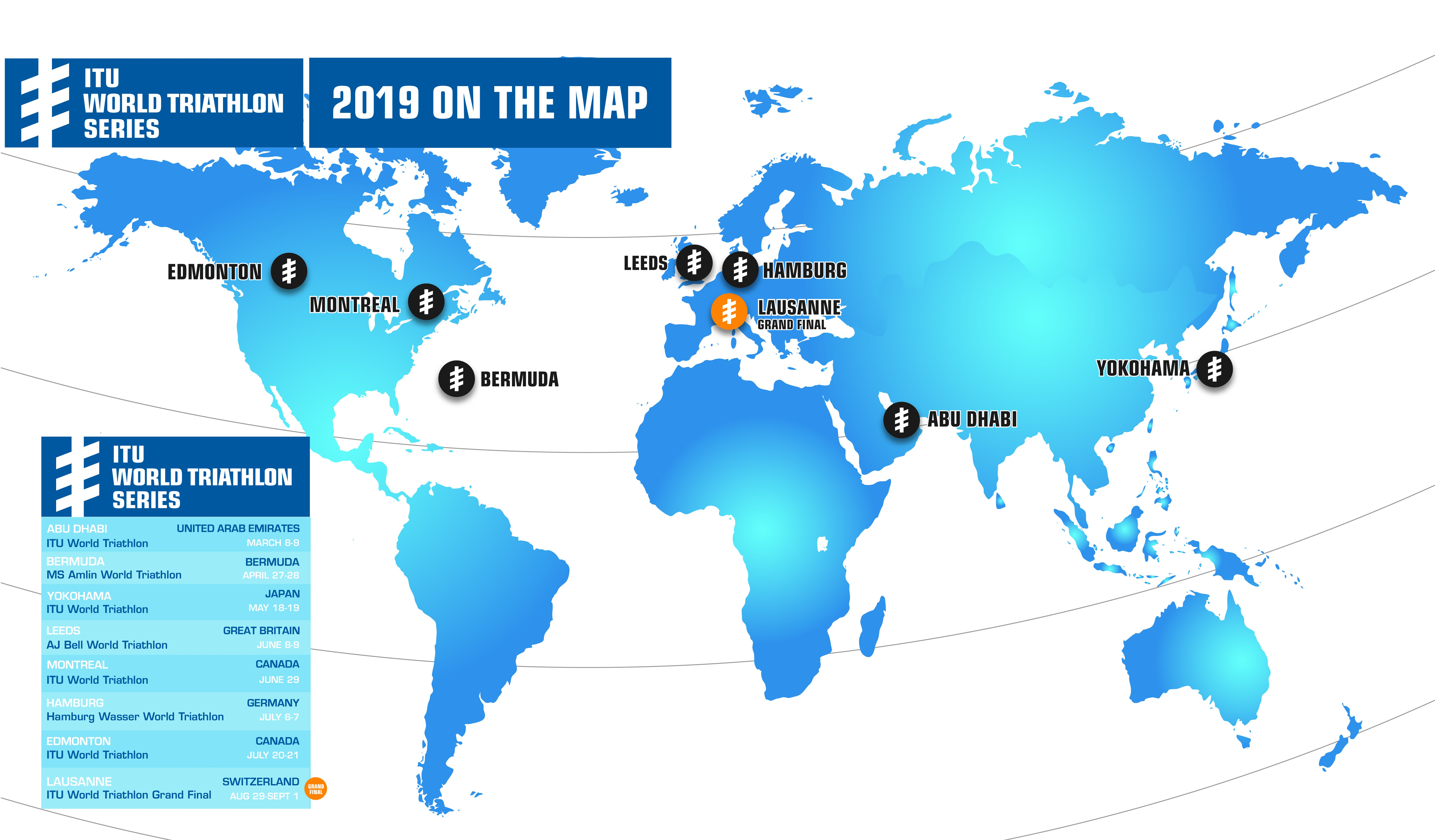 Calendario 2019 Italiano Más Recientemente Liberado Itu Announces the 2019 World Triathlon Series Calendar Of Calendario 2019 Italiano Más Recientes Calendario 2018