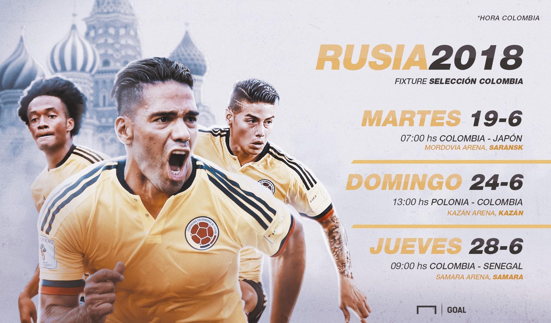 Colombia Martes 19 de junio Polonia 1 2 Senegal estadio del Spartak
