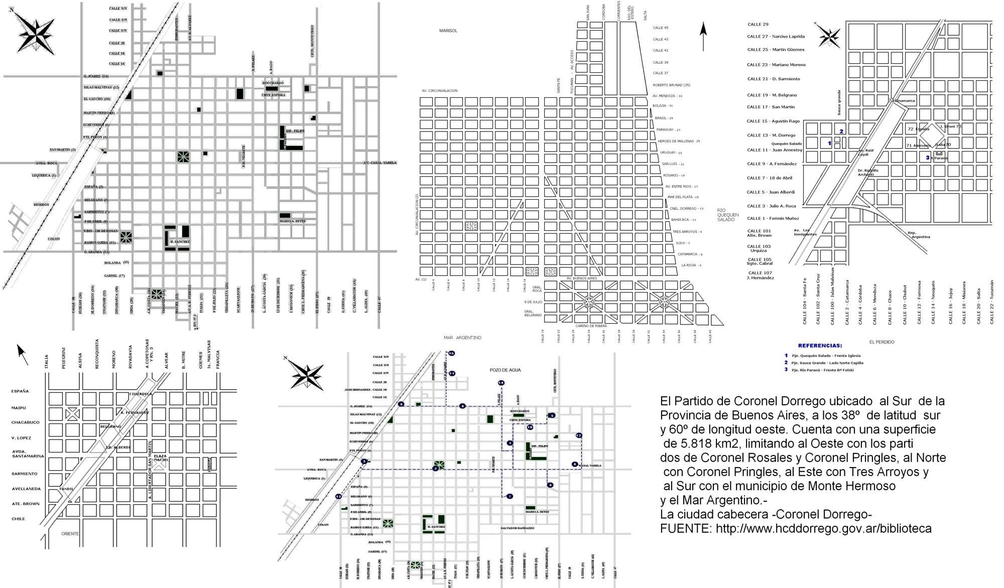 Calendario 2019 Para Imprimir Argentina Mayo Más Recientes Mapa Mural Plano De Coronel Dorrego 3—2 Hojas Carta Para