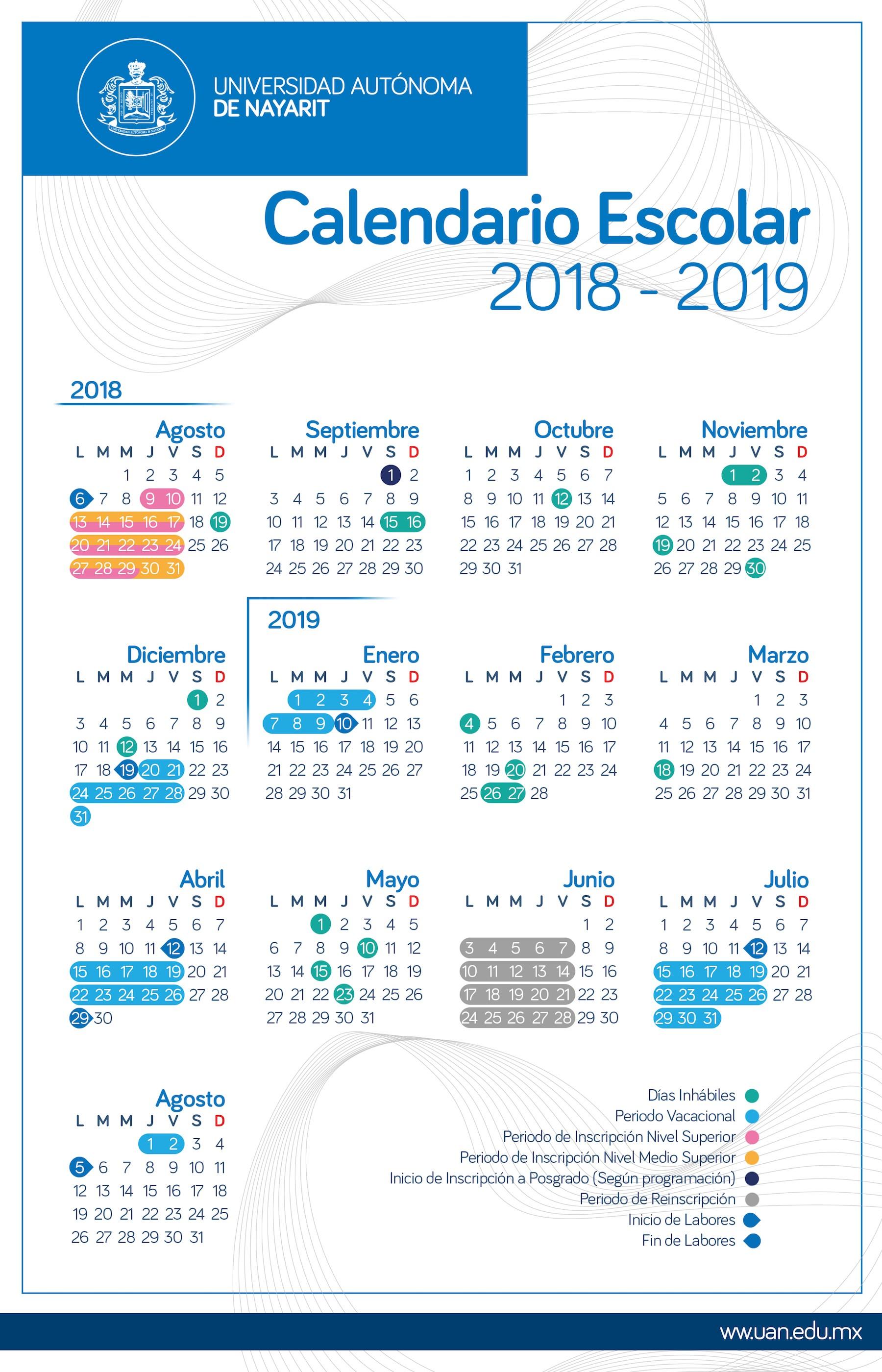 Calendario 2019 Para Imprimir Com Feriados Sp Más Caliente Calendario De eventos De La Uan Of Calendario 2019 Para Imprimir Com Feriados Sp Mejores Y Más Novedosos Calendario