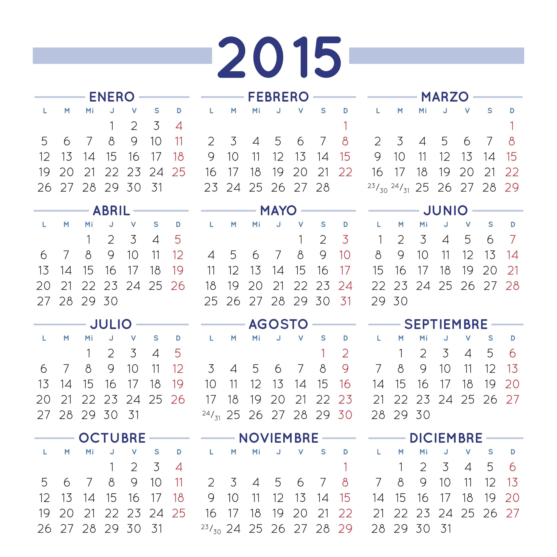 calendario cuadrado 2015 calendario 2015 en espaol para imprimir