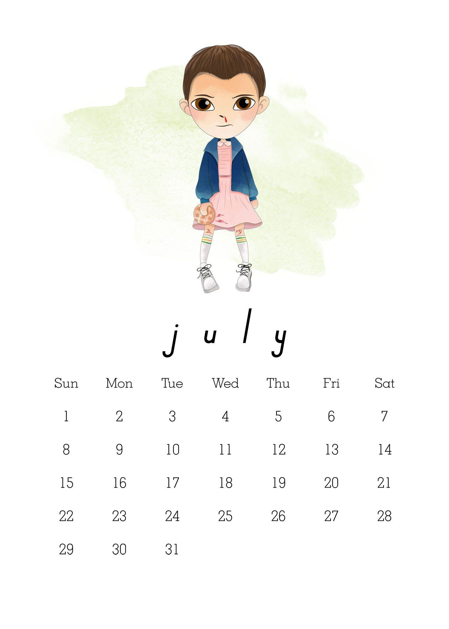 TCM StrangerThings 2018 Calendar 5x7 7 1500—