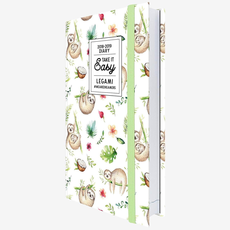 Legami AG Agenda foto 16 meses diaria mediana 2018 2019 color perezosos Amazon icina y papelera