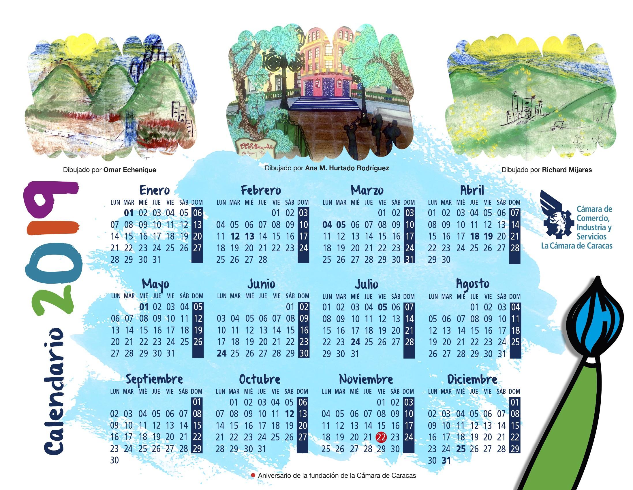 Calendario 2019 Y 2019 Para Imprimir Más Recientemente Liberado Descarga Nuestro Calendario 2018 Cámara De Caracas