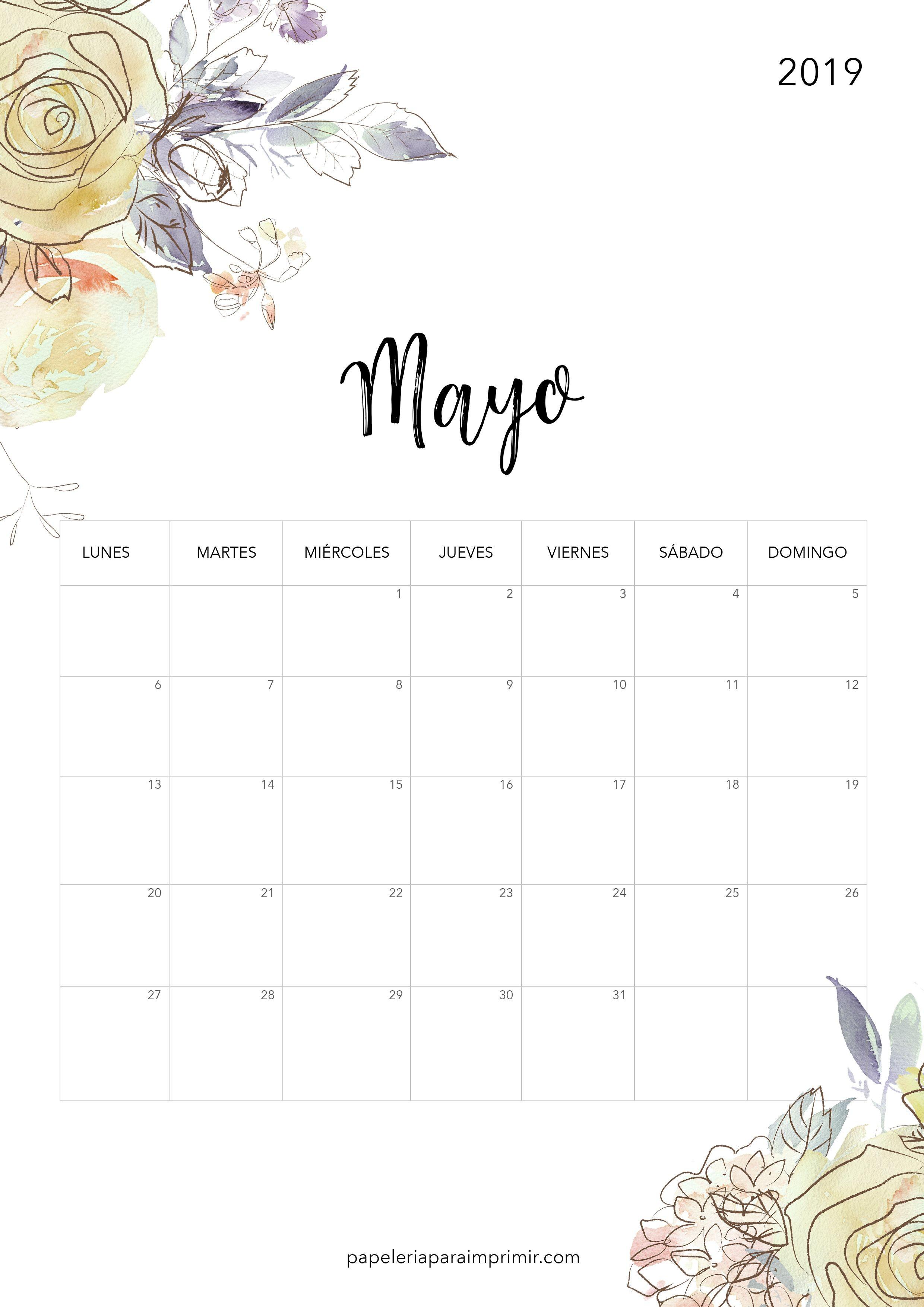 Calendario A Imprimir 2019 Más Caliente Calendario Para Imprimir 2019 Mayo Calendario Calendari Freebie