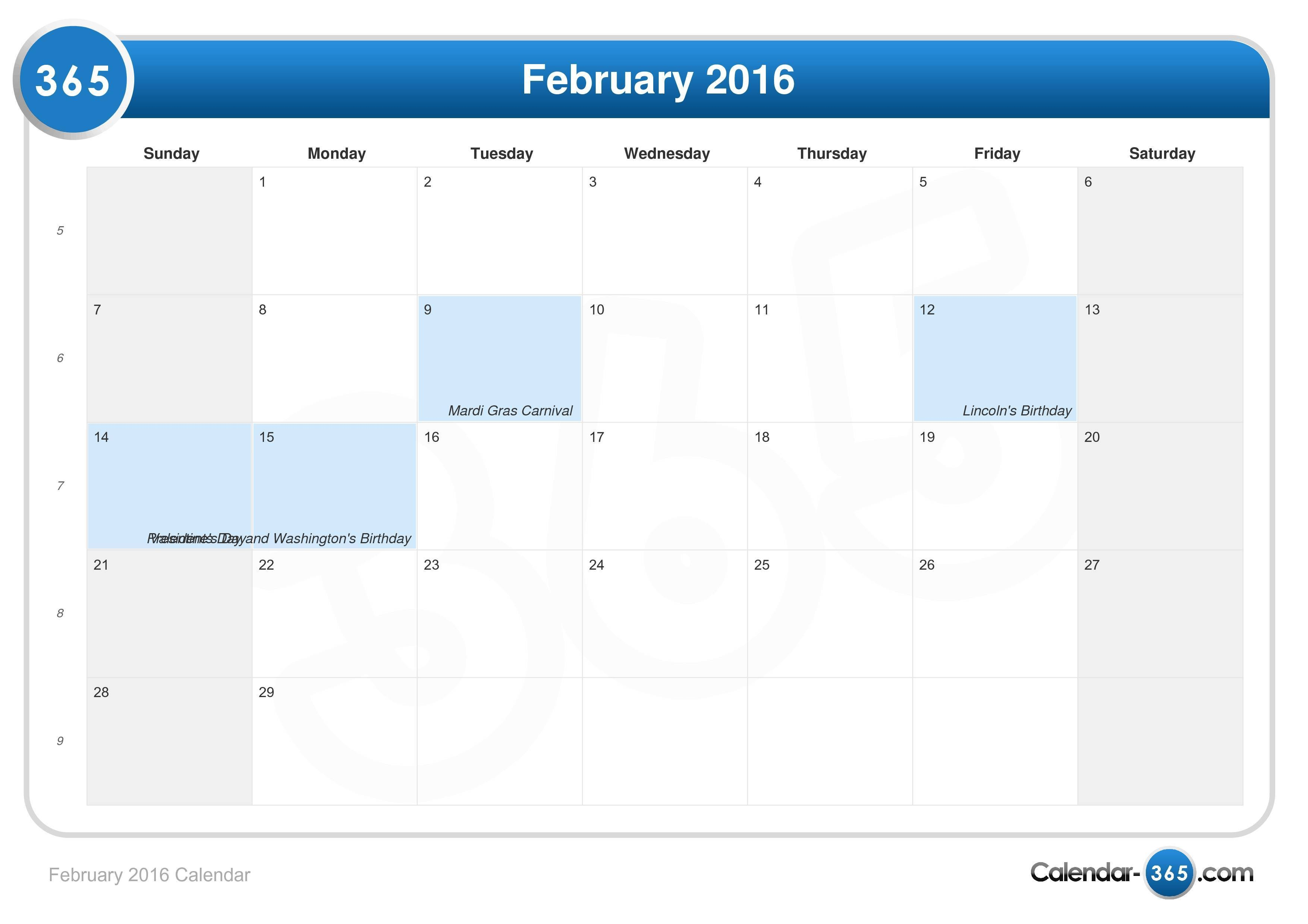 Calendario Abril 2019 Excel Más Actual February 2016 Calendar Of Calendario Abril 2019 Excel Recientes Calendario Julio 2019 Papeler­a Pinterest