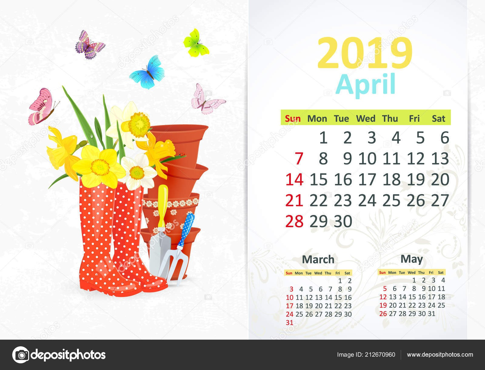 Calendario Abril 2019 Mexico Más Populares Precioso Calendario Jardinera Para Abril 2019 Con Herramientas Of Calendario Abril 2019 Mexico Más Recientes Espa±ol Calendario 2019 — Archivo Imágenes Vectoriales © Rustamank