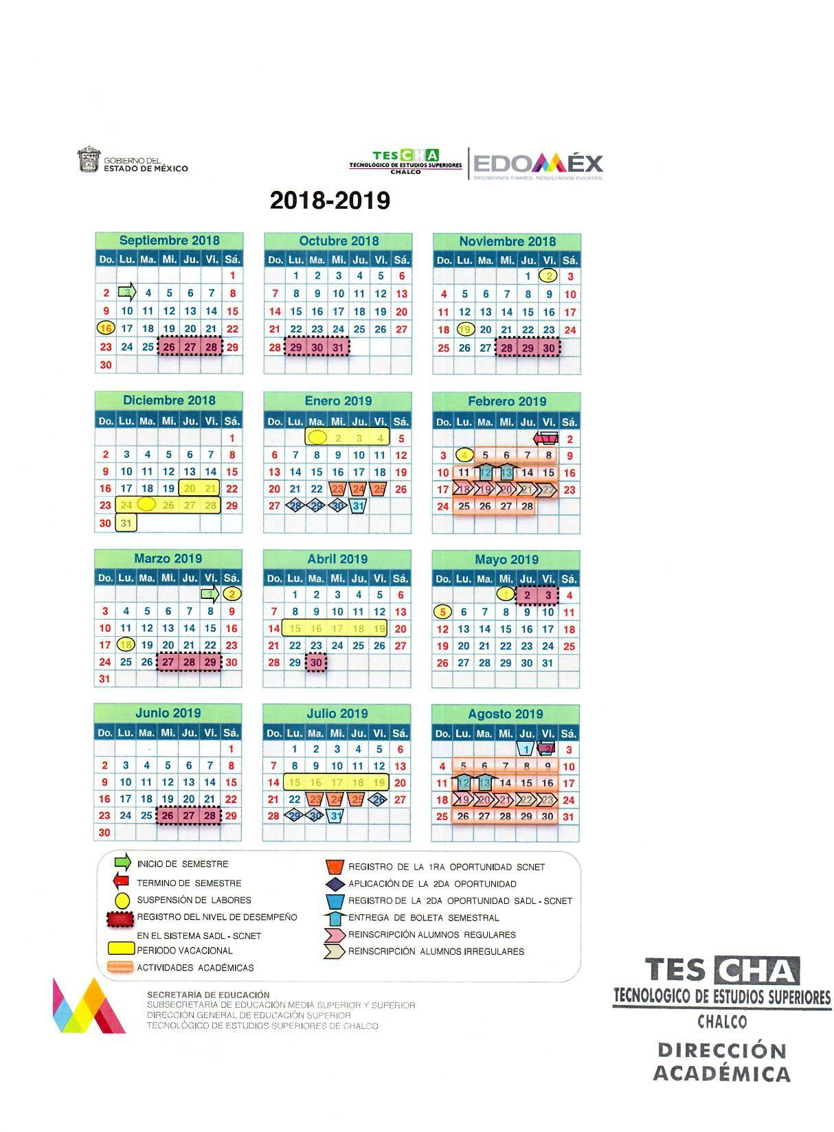 Calendario Abril 2019 Mexico Más Recientemente Liberado Tecnol³gico De Estudios Superiores De Chalco Of Calendario Abril 2019 Mexico Más Recientes Espa±ol Calendario 2019 — Archivo Imágenes Vectoriales © Rustamank