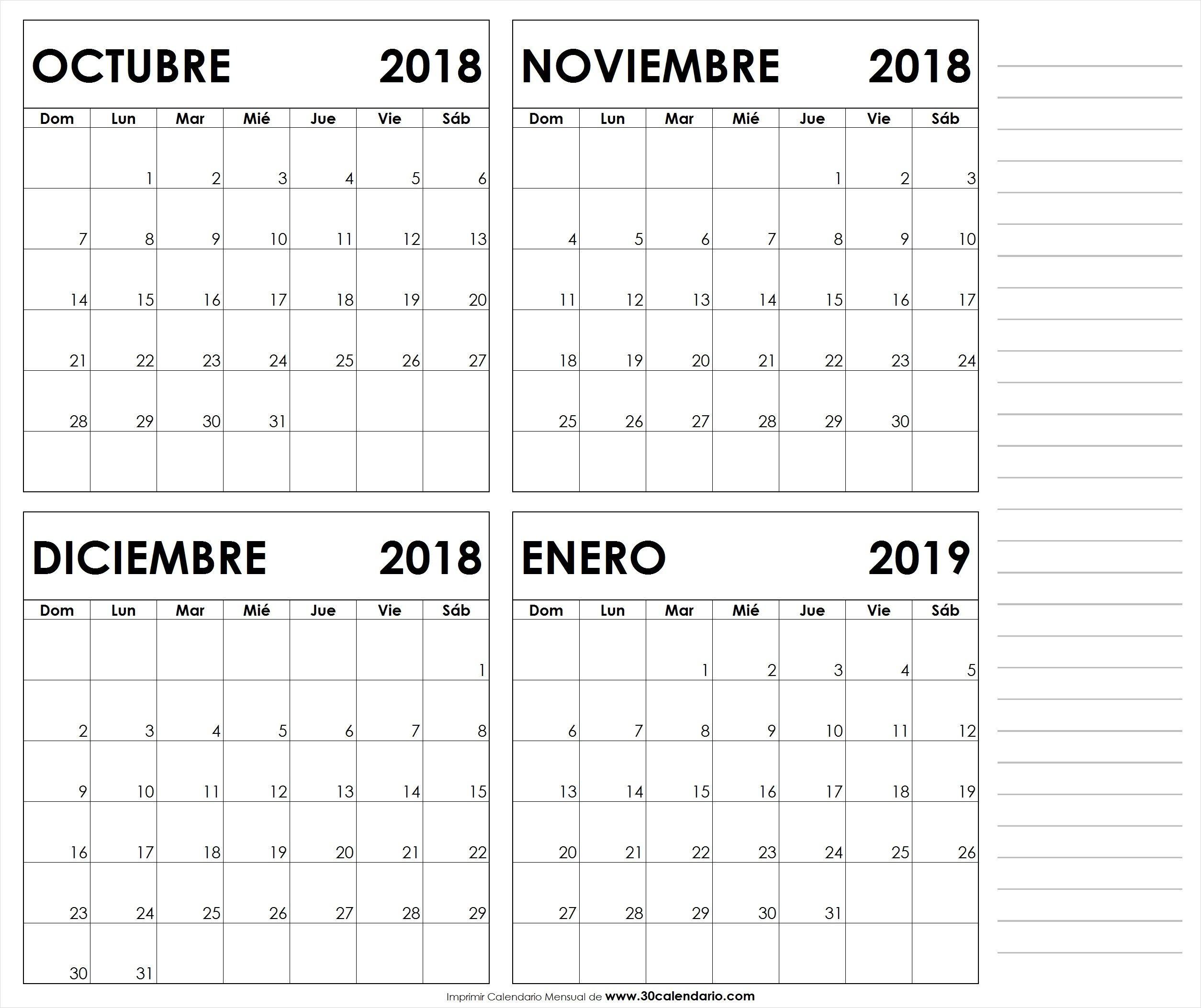 Calendario Octubre Noviembre Diciembre 2018 Enero 2019 Jpg September Calendar White People