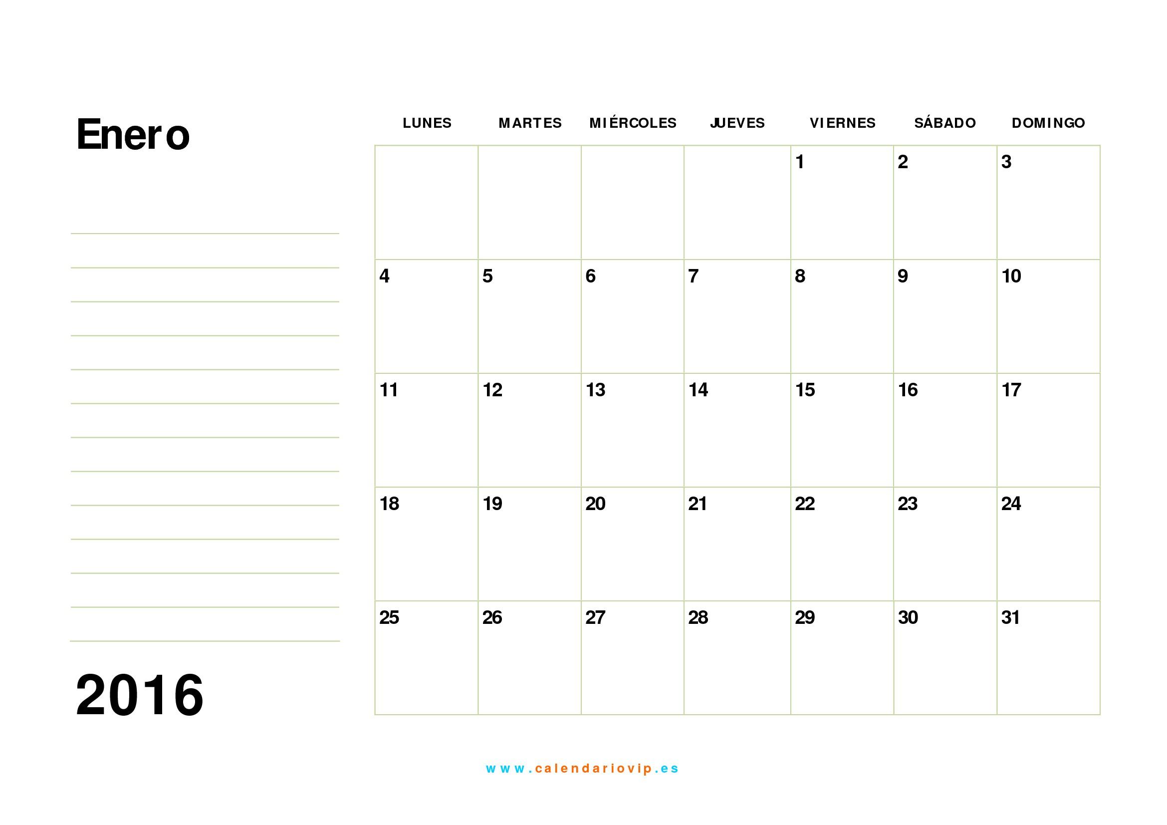 calendario mensual 2016 01 calendario mensual 2016 02