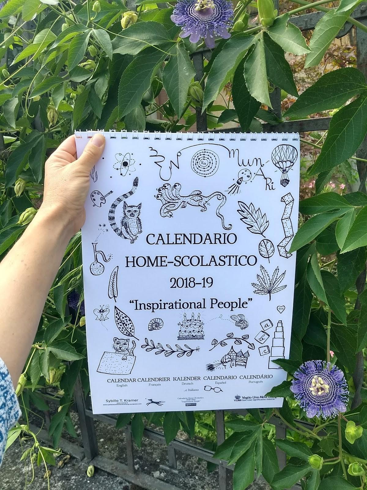 Il nuovo calendario fresco di stampa Questa volta con sfondo di fiori di maracuja