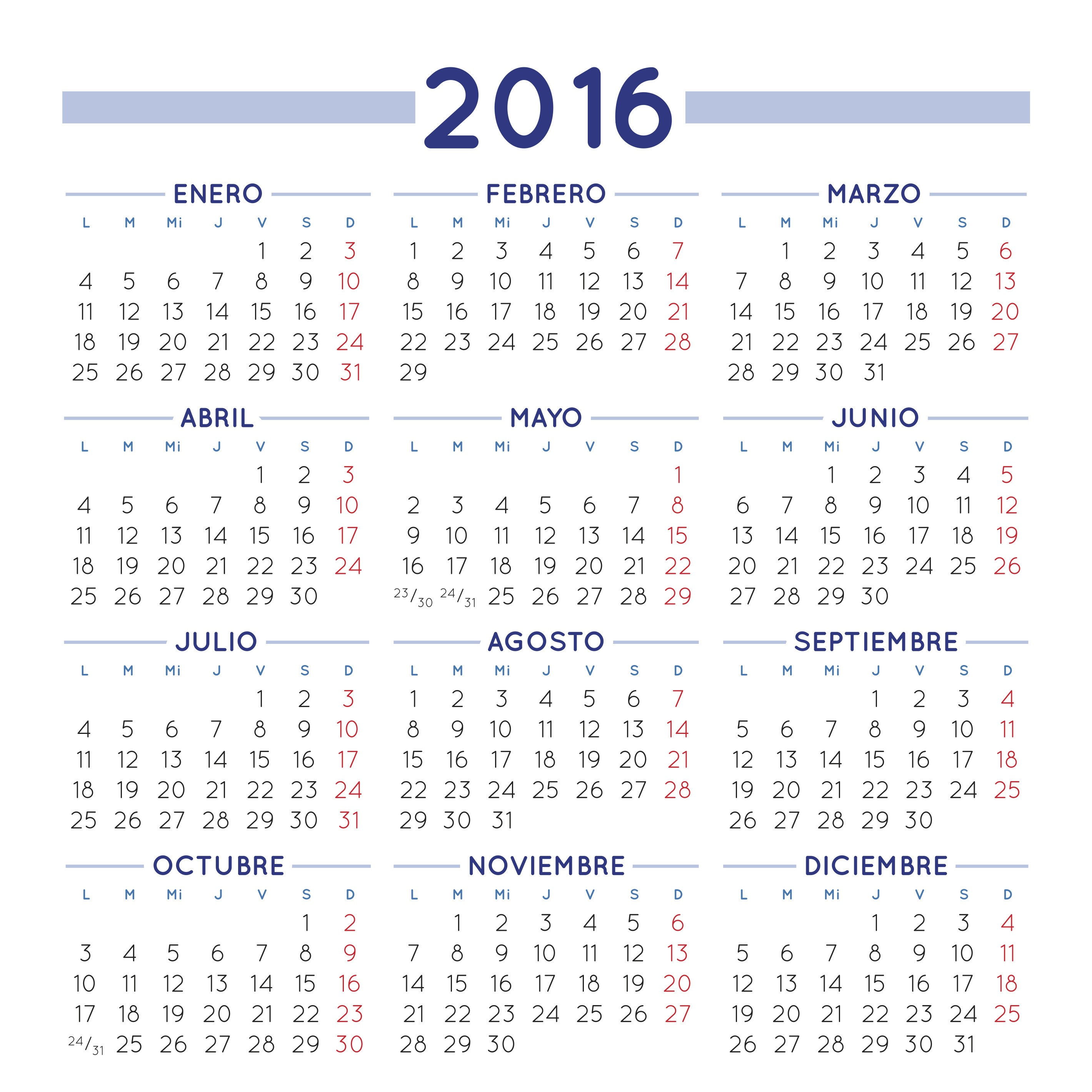 Un aniversario m s y van 8 calendario gratuito de 2016 for Calendario lunar 2016 colombia
