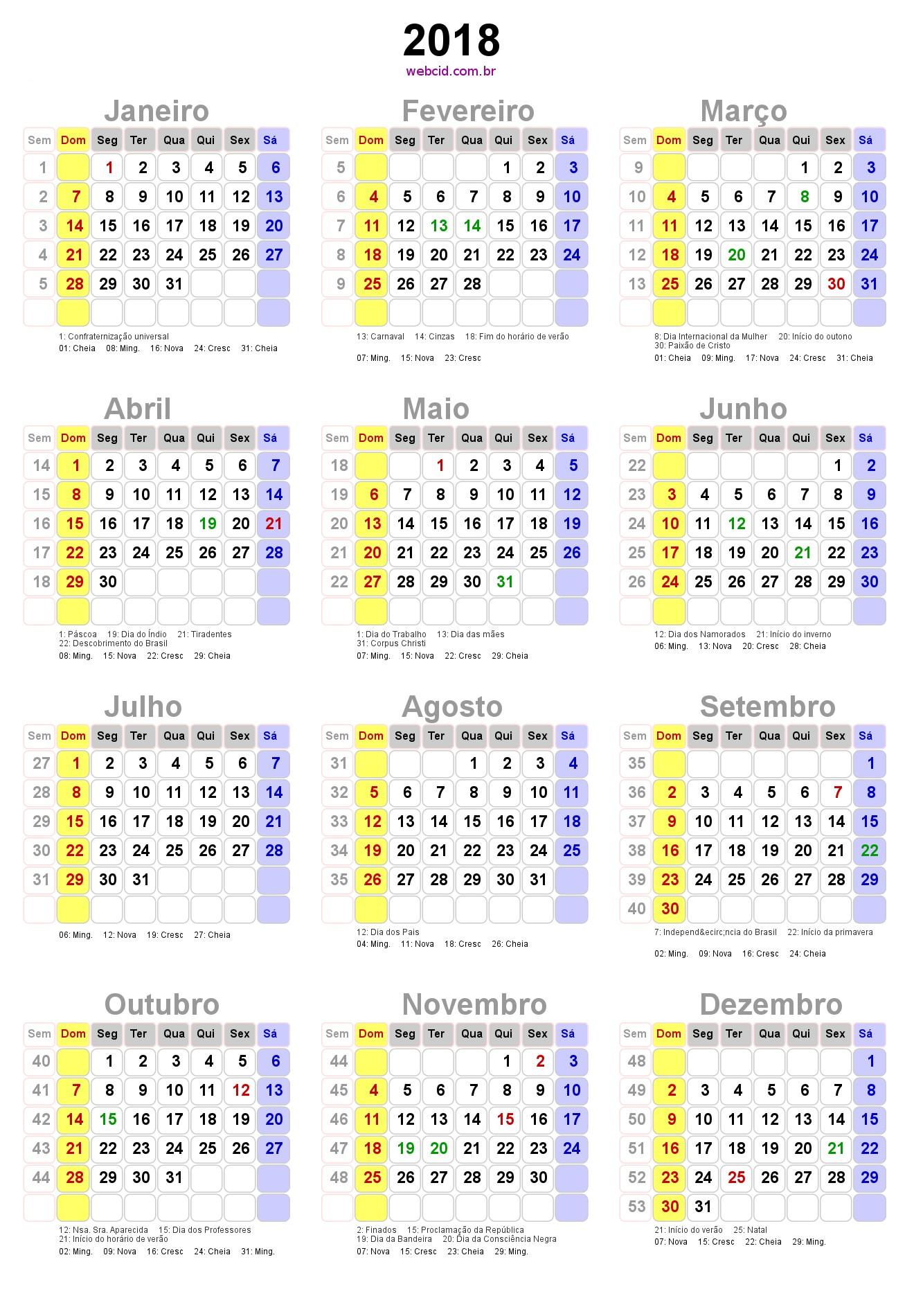 Pin de Elizabeth Germano Miraldo em Calendario 2018 Pinterest