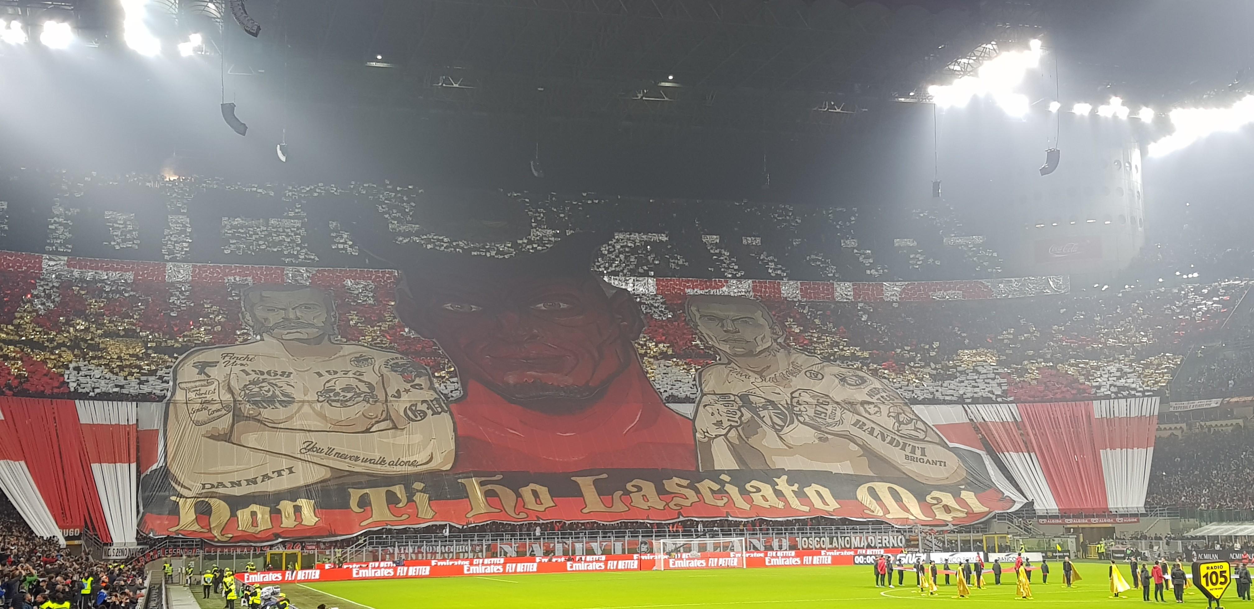 Milan Juventus 2018 2019 Milan supporters