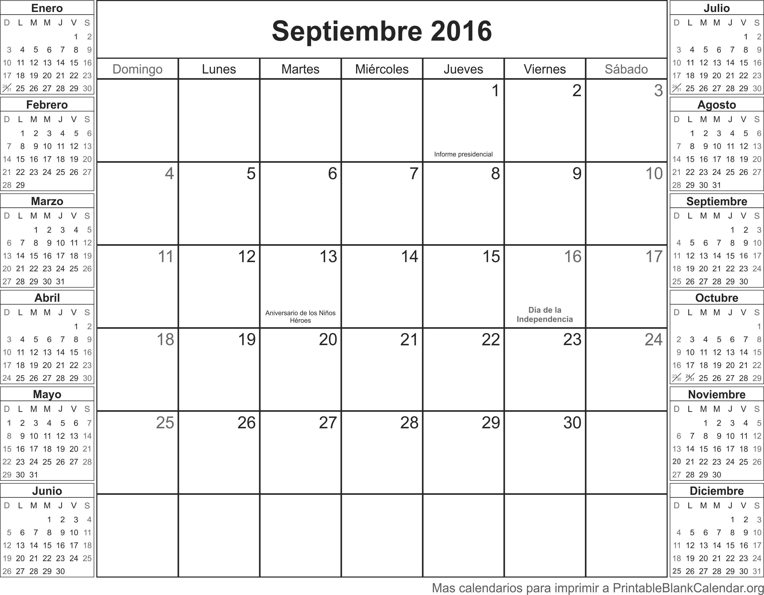Image Gallery Septiembre 2003 Calendario 365