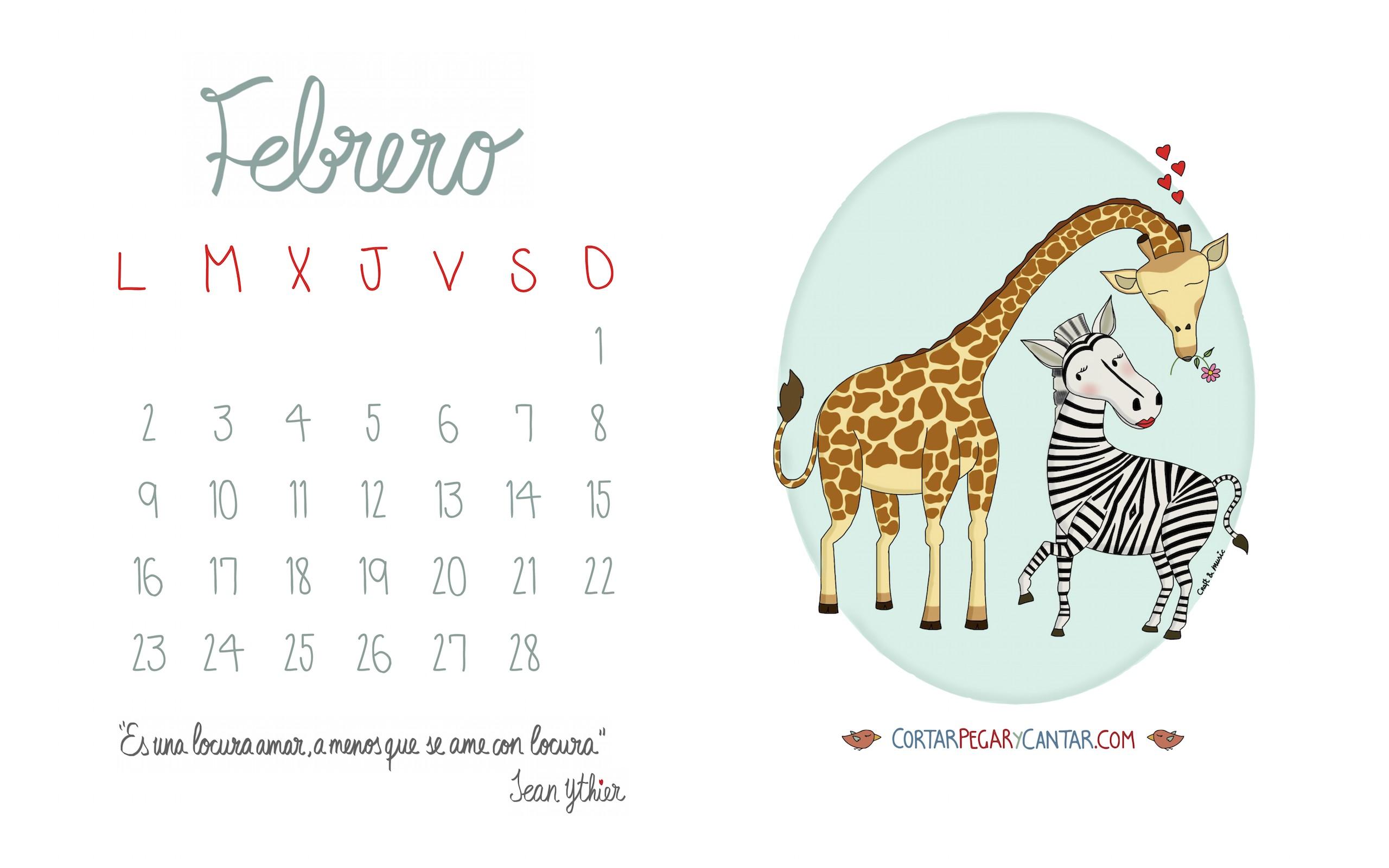 Calendario De Febrero 2017 Para Imprimir Más Arriba-a-fecha Descargables Cortar Pegar Y Cantar