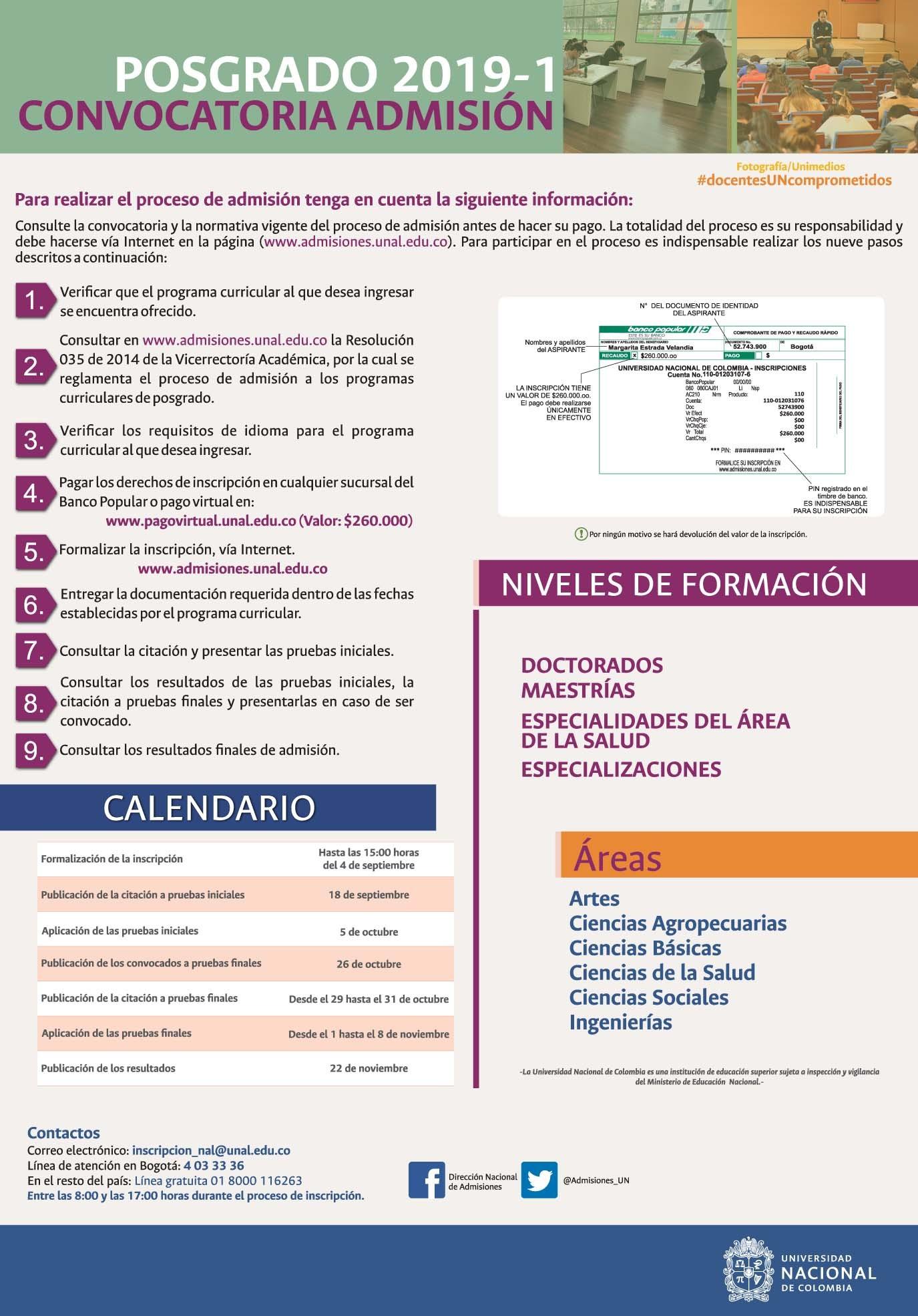 Calendario Del 2019 De Colombia Más Caliente Universidad Nacional De Colombia Posgrado Of Calendario Del 2019 De Colombia Más Populares Calendario 2019 Excel Lunes A Domingo – Contar