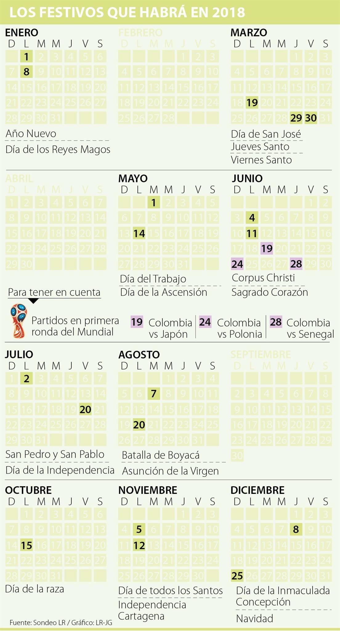 Calendario Del Año 2019 Para Colombia Más Reciente Y Chile son Los