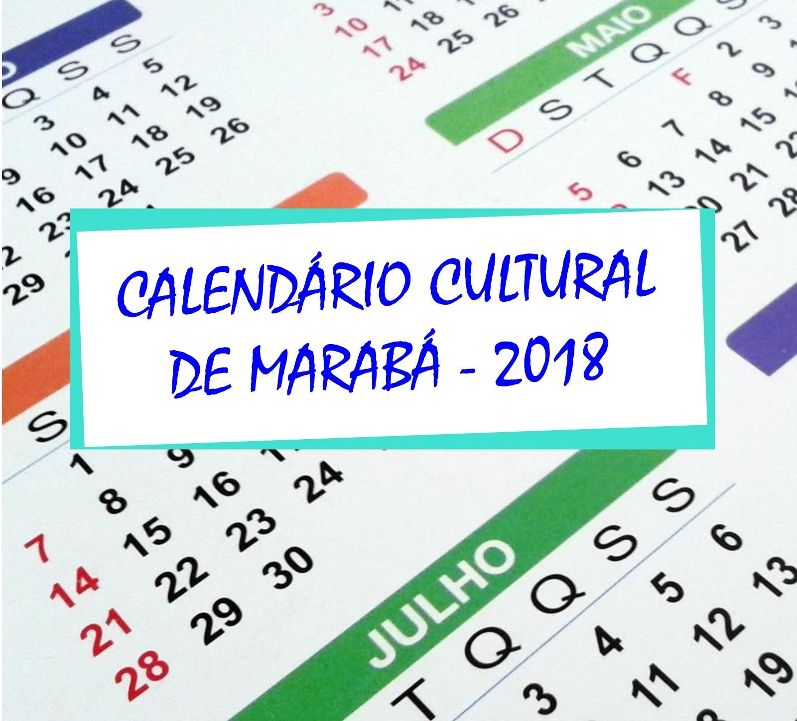 MarabáTurismo CALENDRIO CULTURAL DE MARAB 2018
