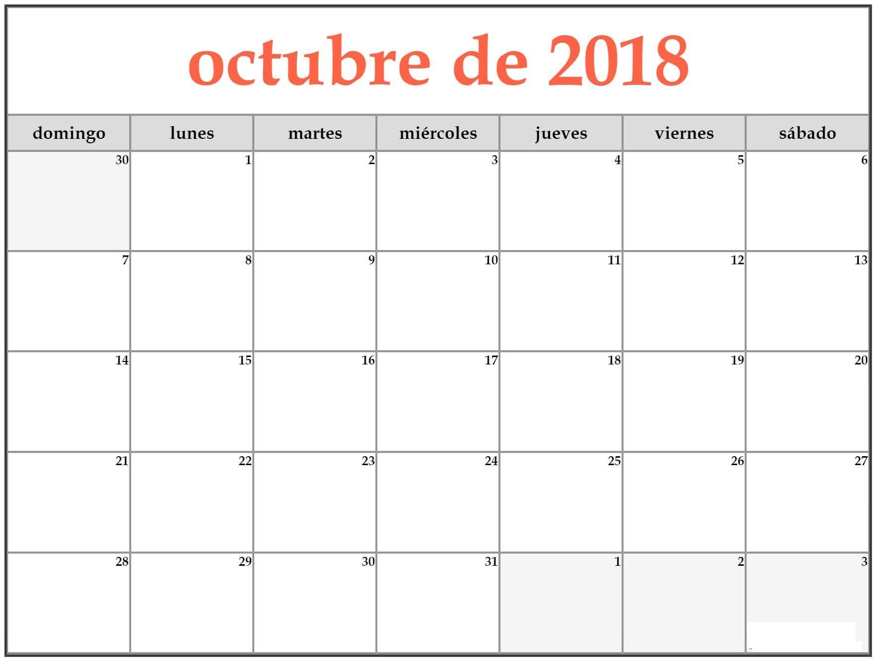 Calendario Diciembre 2017 Chile Para Imprimir Más Populares Calendario Octubre 2018 Para Imprimir Of Calendario Diciembre 2017 Chile Para Imprimir Recientes Calendario Chile A±o 2018