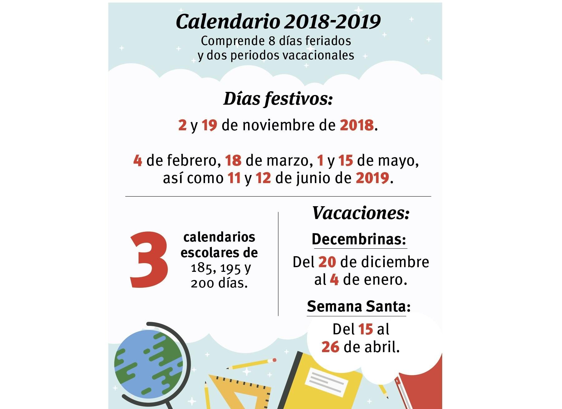Publica SEP Calendario Escolar para 2018 2019