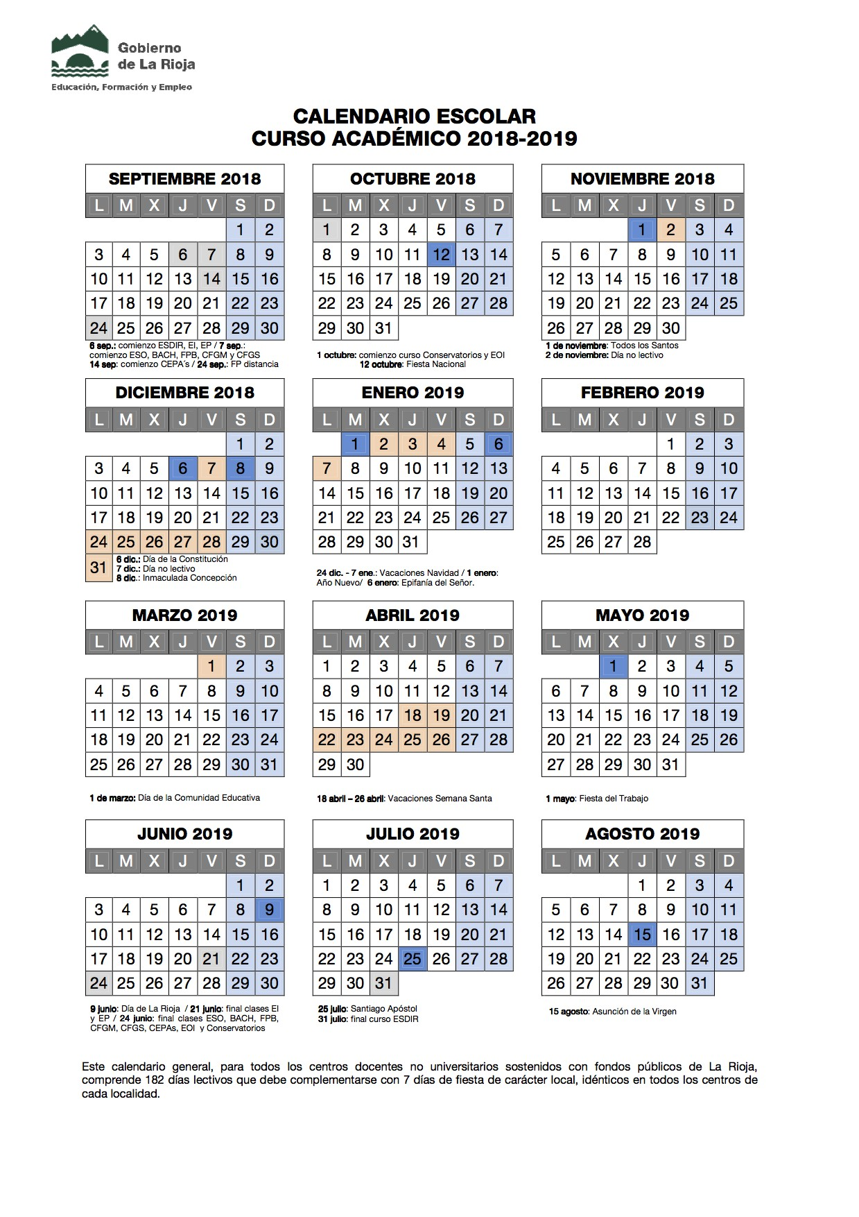 Descargar Calendario Escolar