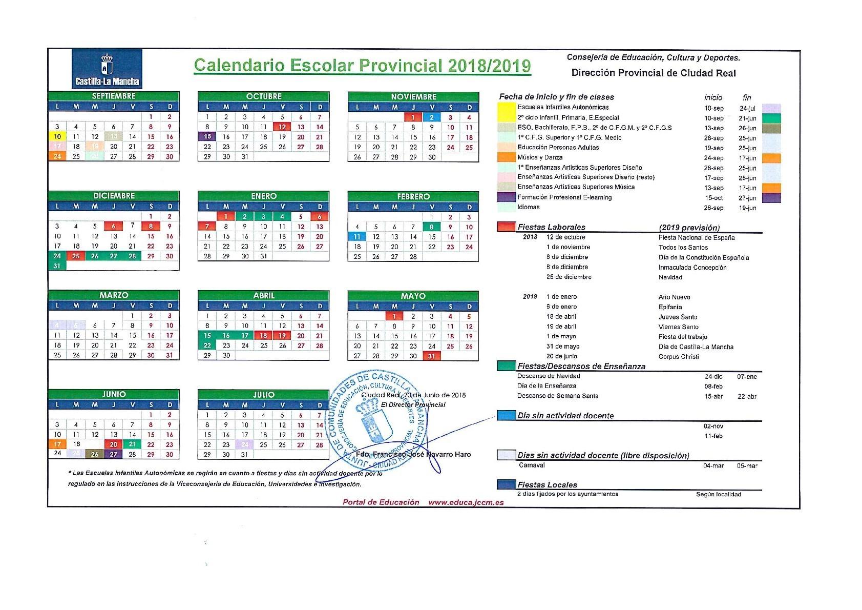 Calendario Escolar 2019 Carnaval Más Populares Calendario Escolar 2018 2019 Of Calendario Escolar 2019 Carnaval Recientes Calendario Escolar Del Curso 17 18