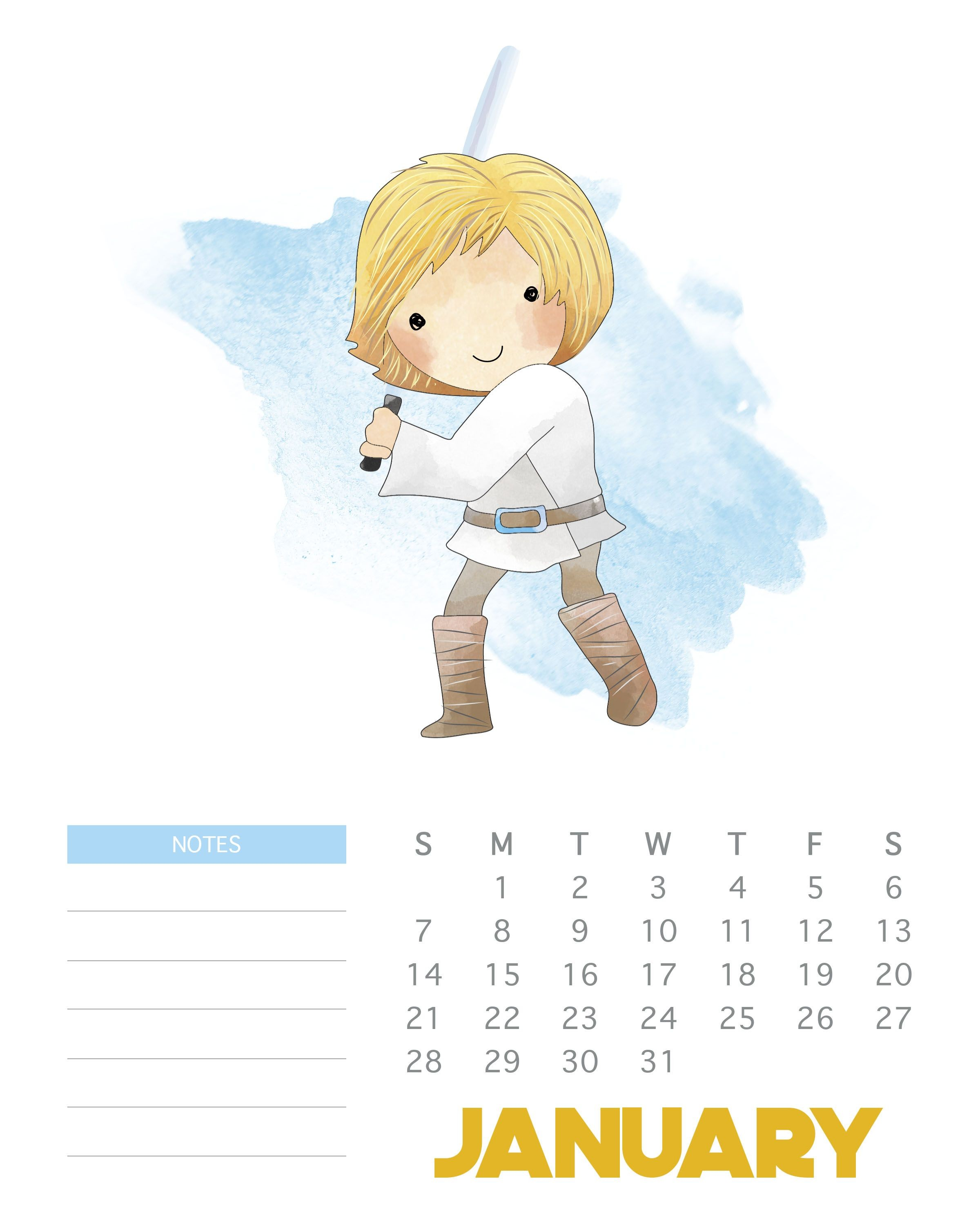 Back by popular demand is our FREE Printable 2018 Star Wars Calendar You all loved the 2017 Edition and so many of you asked for 2018…so here you go