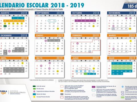 Calendario Escolar 2019 De 185 Dias Para Imprimir Recientes Calendarios Escolares 2018 2019 De 185 Y 195 Das