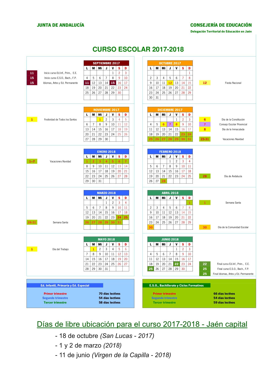 Calendario Escolar 2019 Jaen Más Recientemente Liberado Horarios Del Curso 2018 2019 – I E S Fuente De La Pe±a