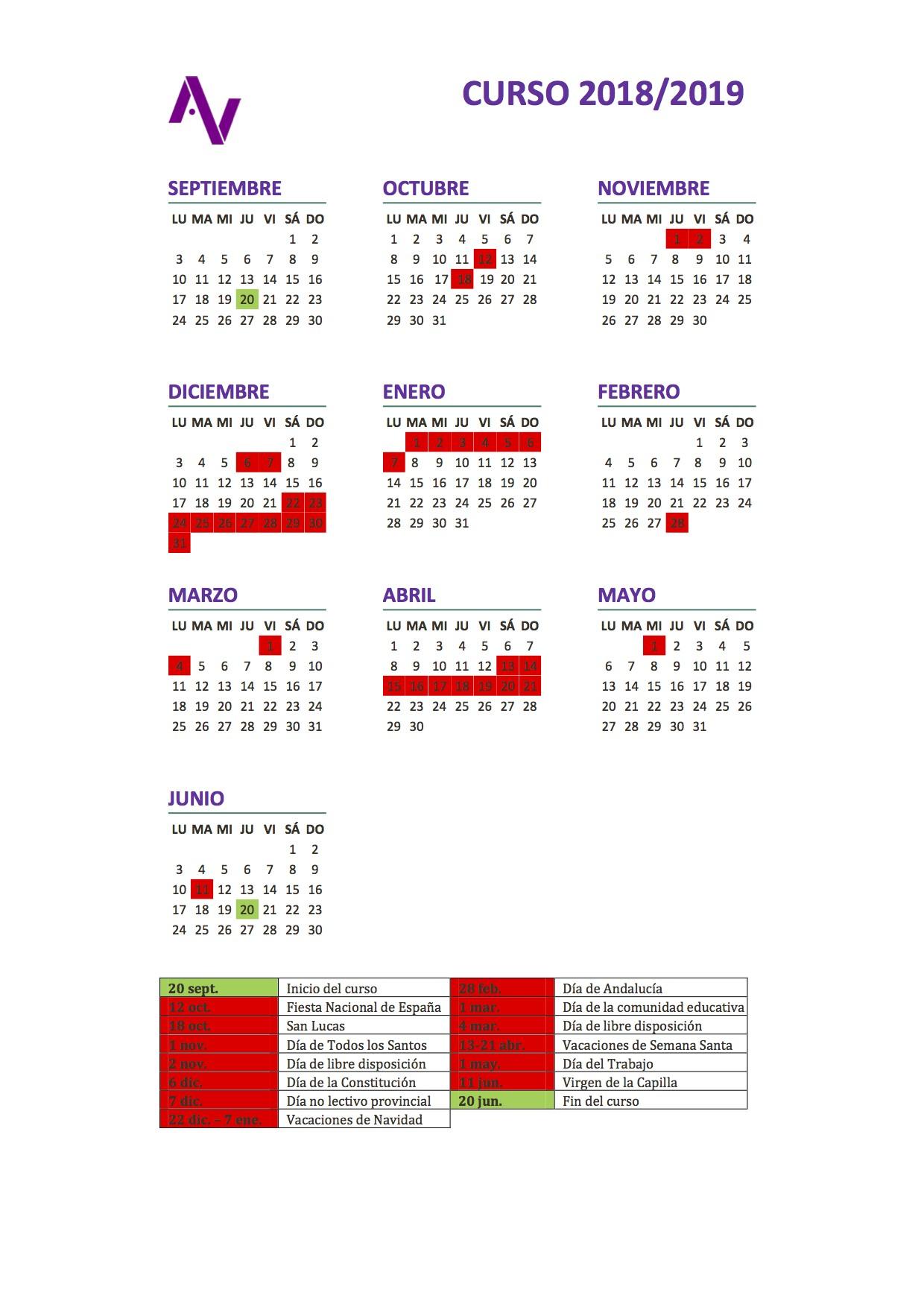 Calendario Escolar 2019 Jaen Recientes Calendario Escolar Of Calendario Escolar 2019 Jaen Más Recientemente Liberado Horarios Del Curso 2018 2019 – I E S Fuente De La Pe±a