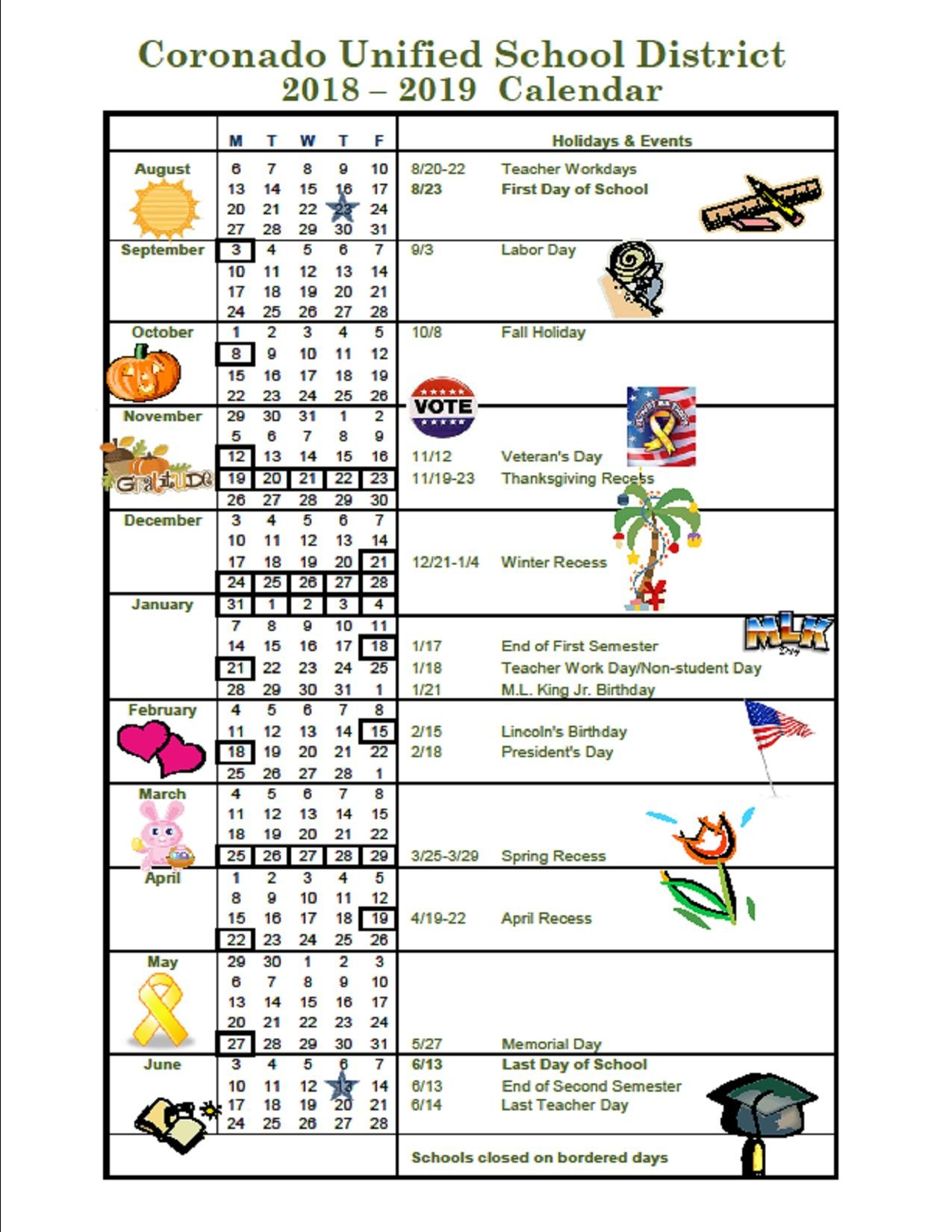 Calendario Escolar 2019 Kinder Más Recientemente Liberado About Academic Calendar & Bell Schedule Of Calendario Escolar 2019 Kinder Más Reciente 2018 2019 School Year Calendar Upper Canada District School Board