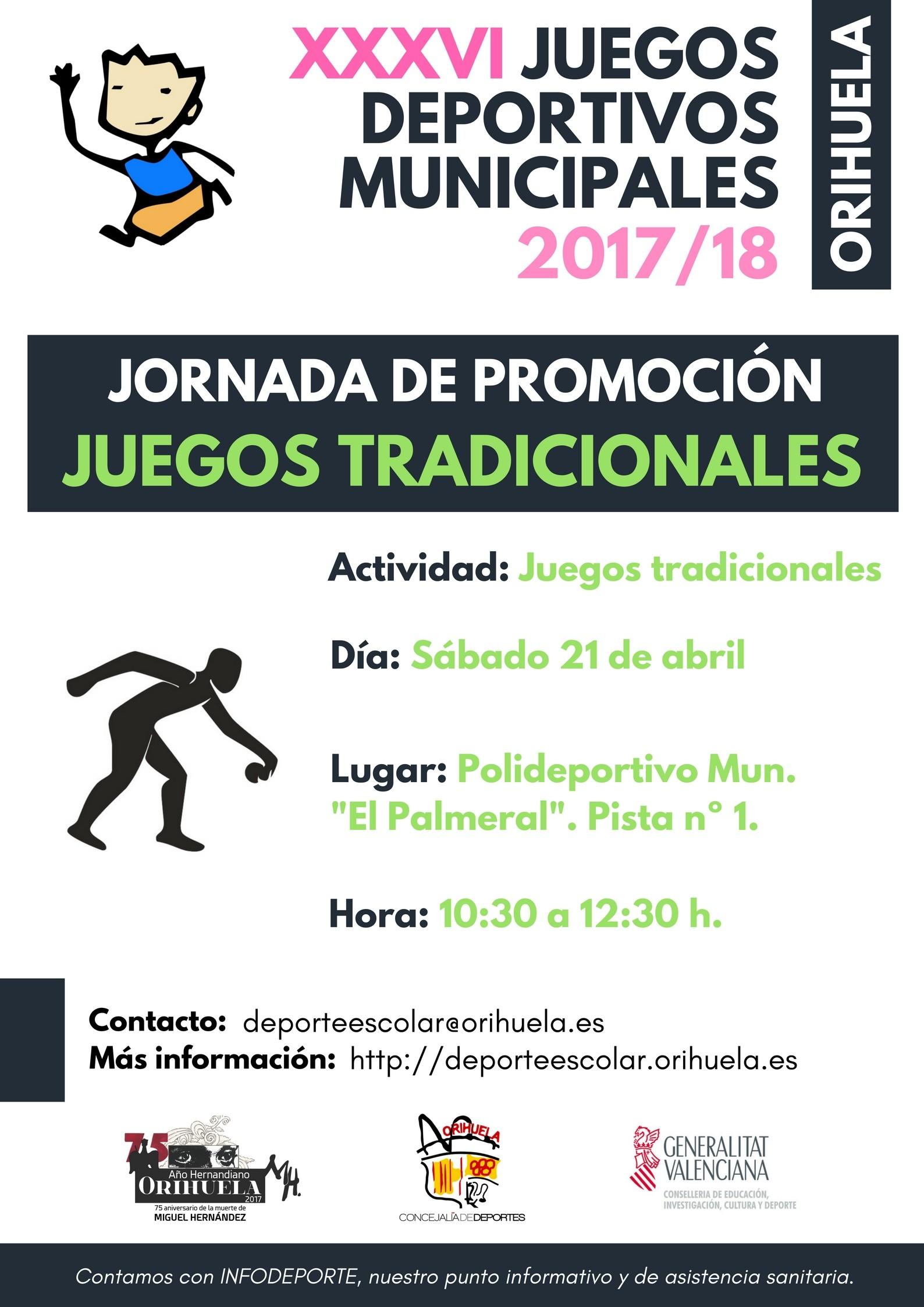Calendario Escolar orihuela 2019 Más Recientemente Liberado Jornada De Juegos Tradicionales Juegos Deportivos Municipales